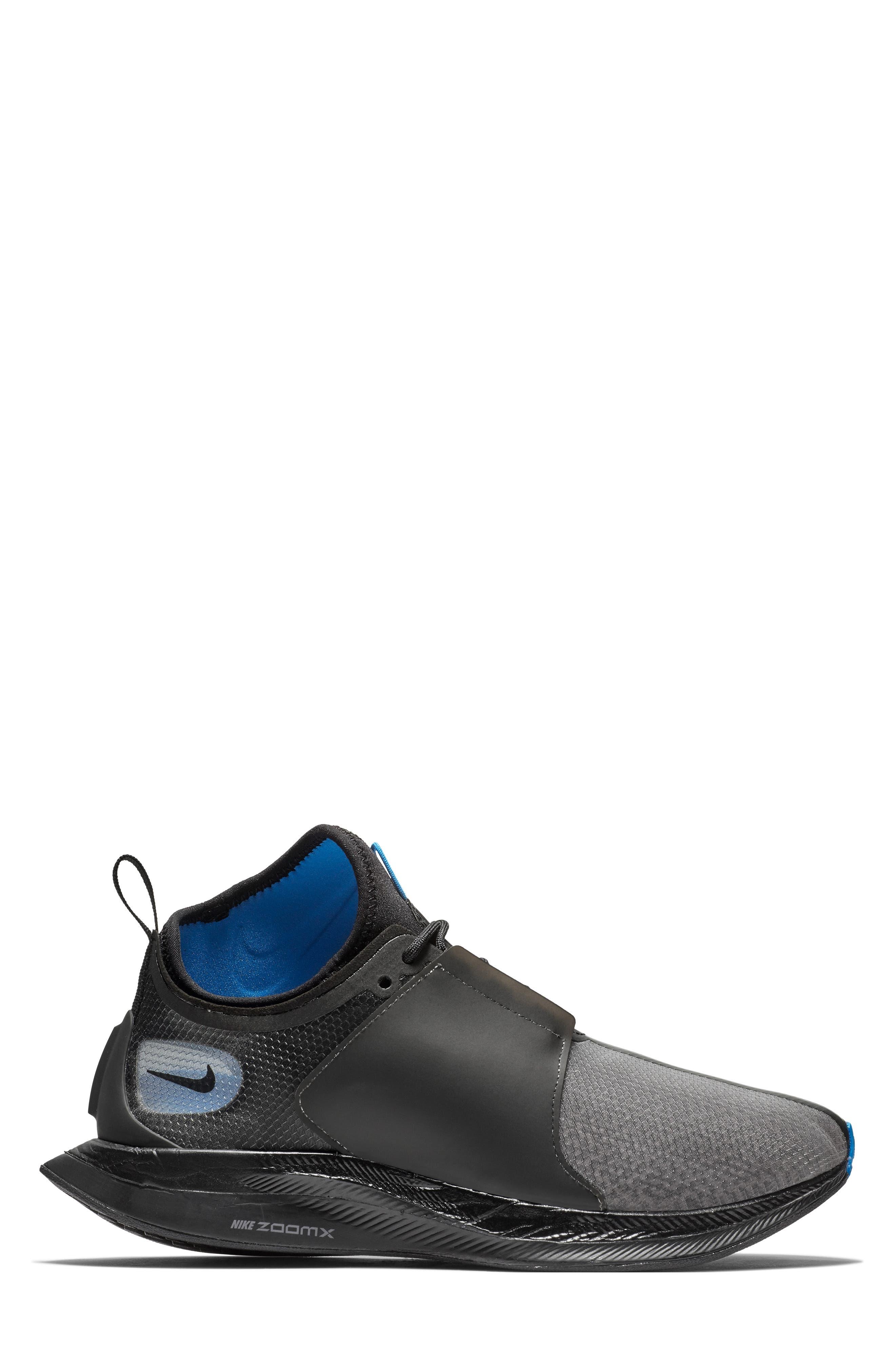 Zoom Pegasus Turbo XX Running Shoe,                             Alternate thumbnail 3, color,                             BLACK/ BLACK/ COBALT BLAZE