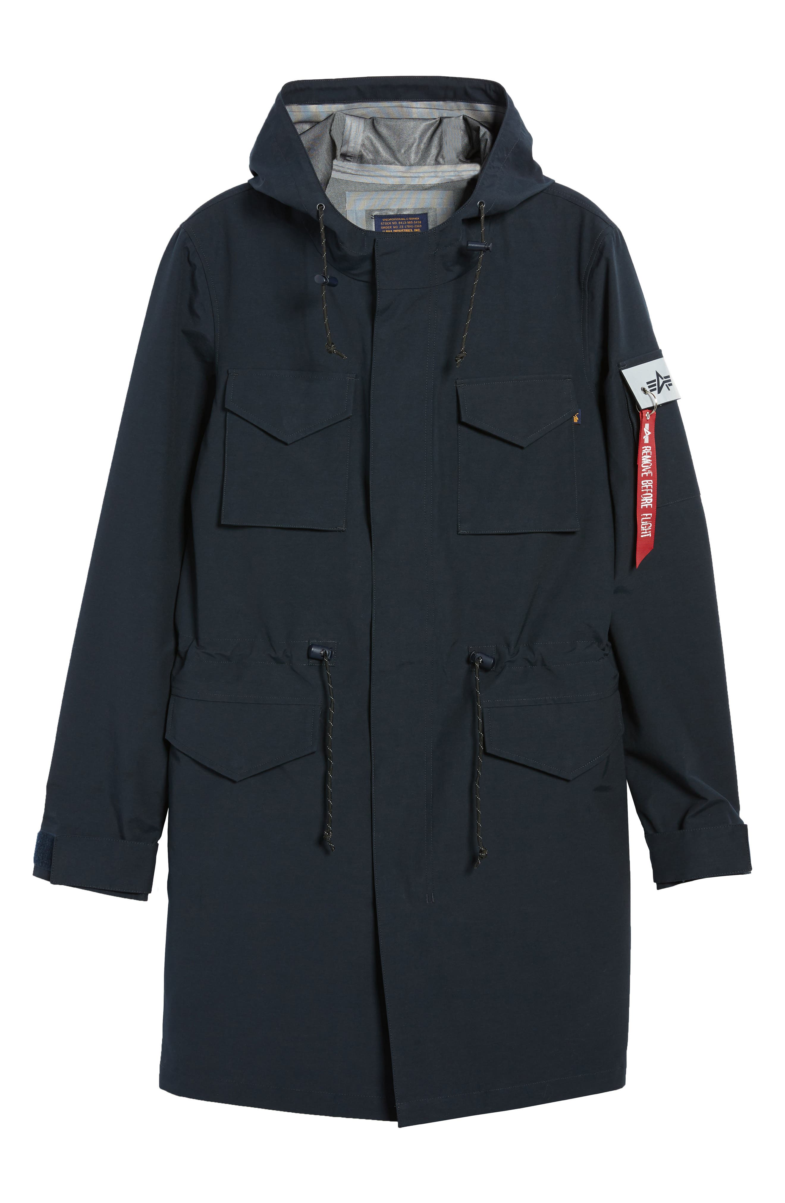 Quartermaster Waterproof Field Coat,                             Alternate thumbnail 5, color,                             410