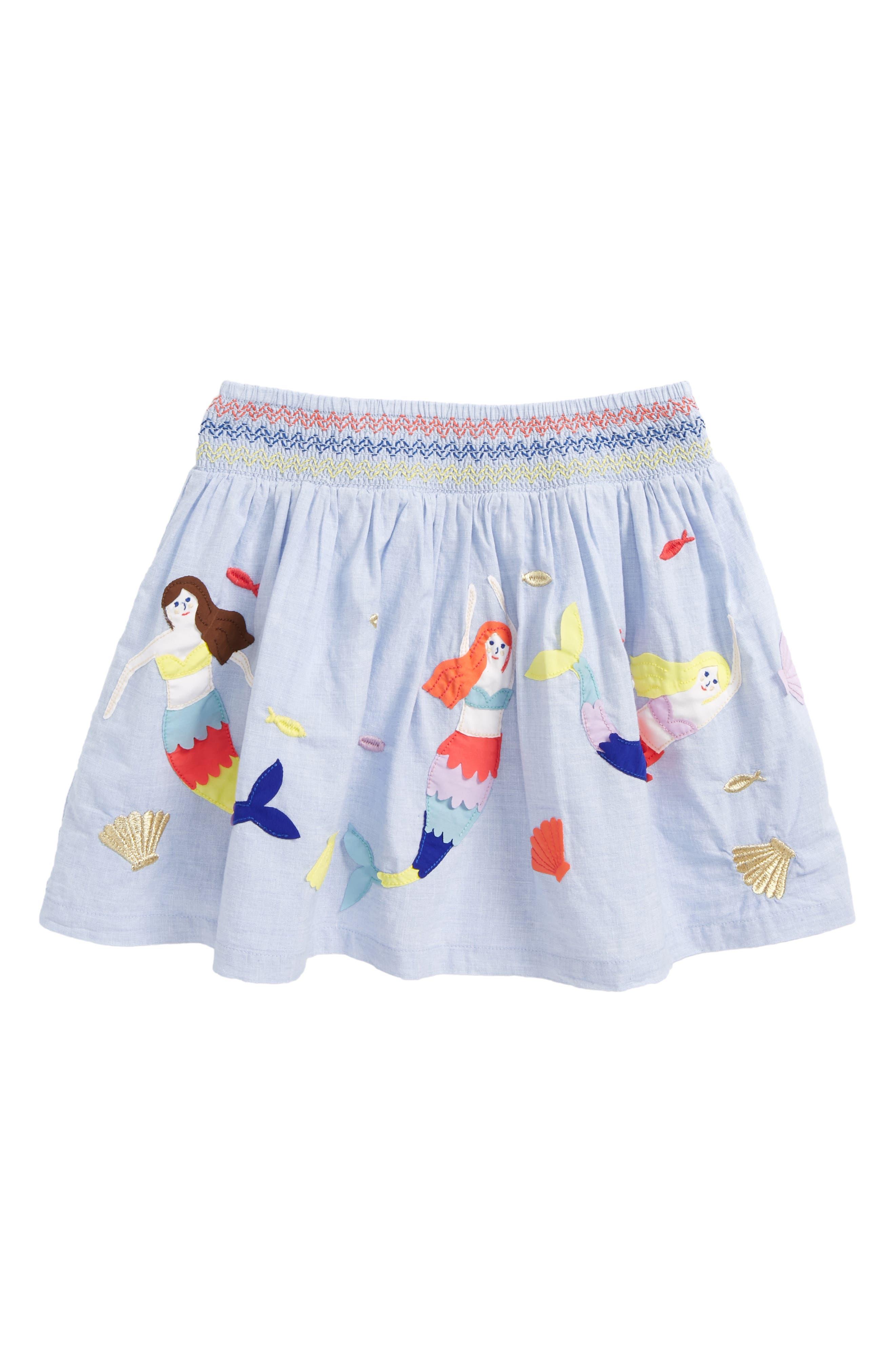 Colorful Appliqué Skirt,                         Main,                         color,