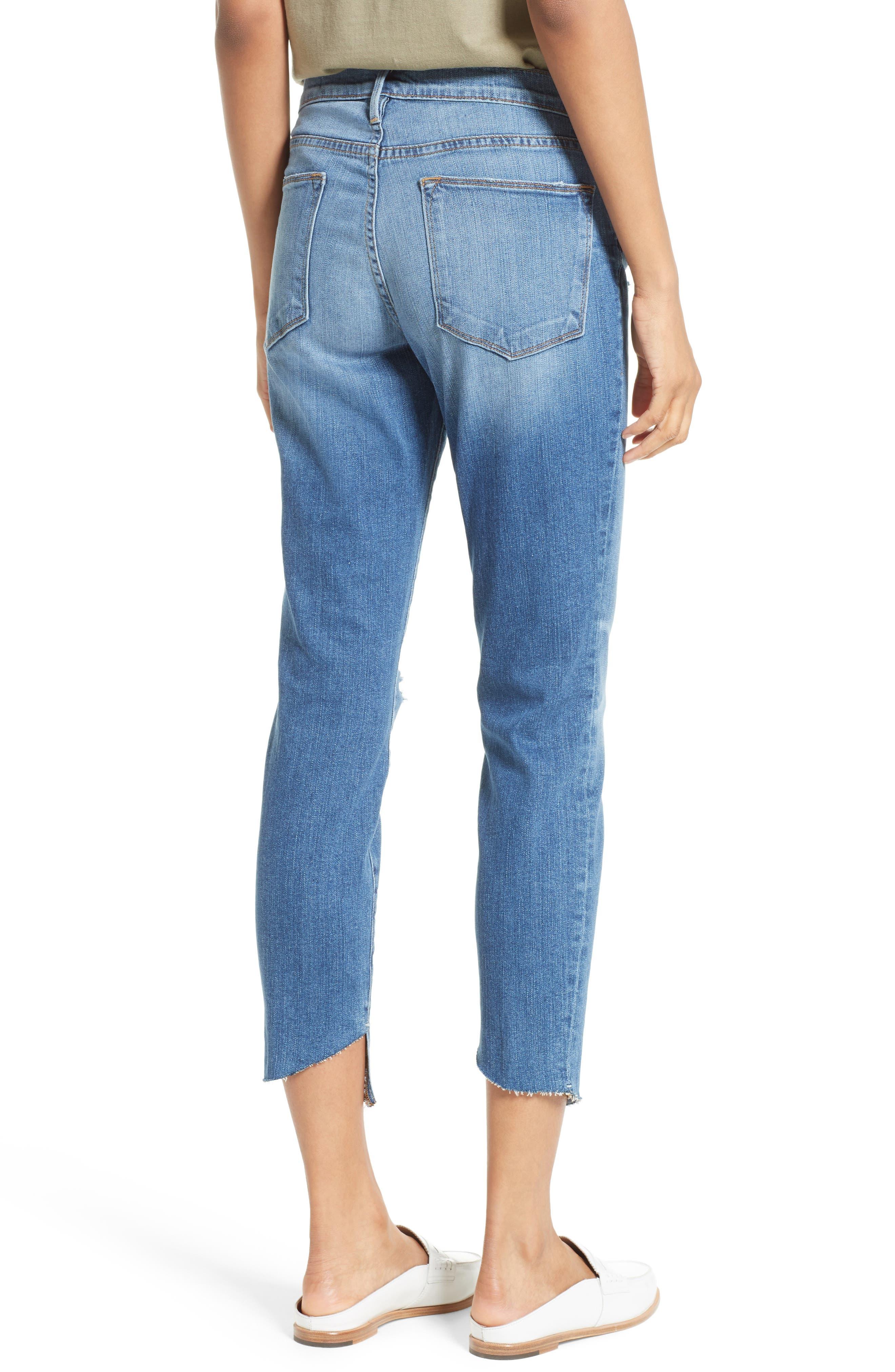 Le High Skinny Cascade Hem Jeans,                             Alternate thumbnail 2, color,                             420