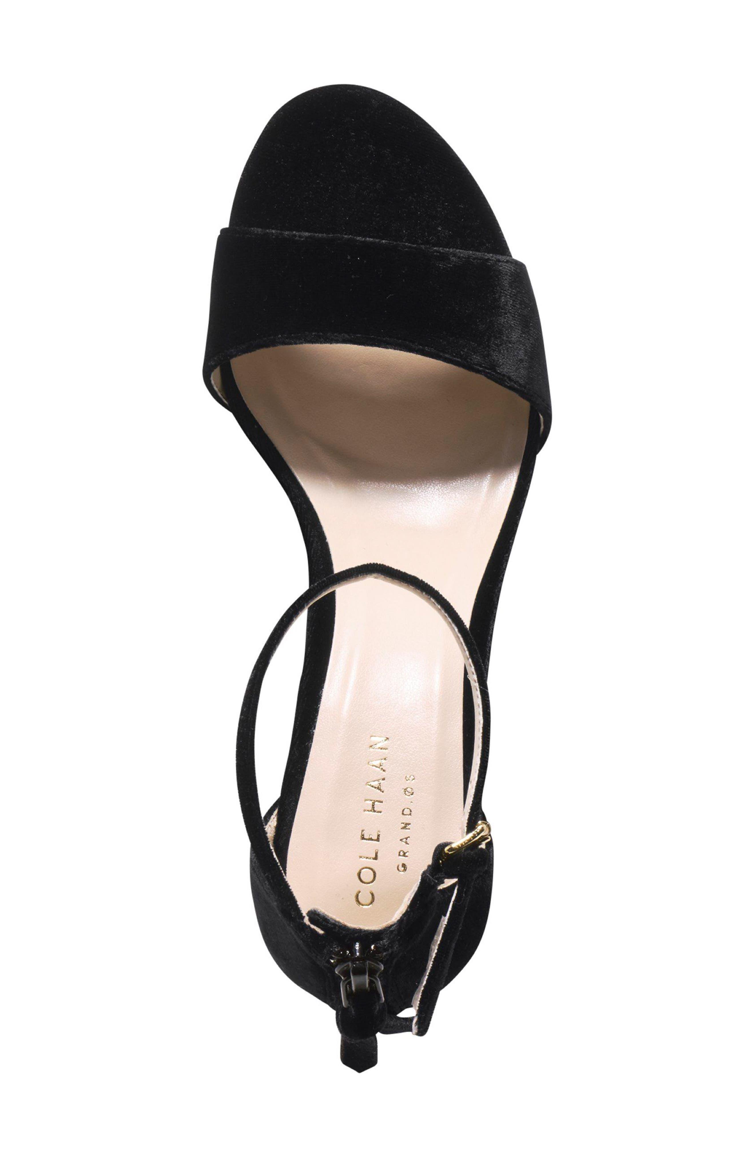 Clara Grand Ankle Strap Sandal,                             Alternate thumbnail 4, color,                             001