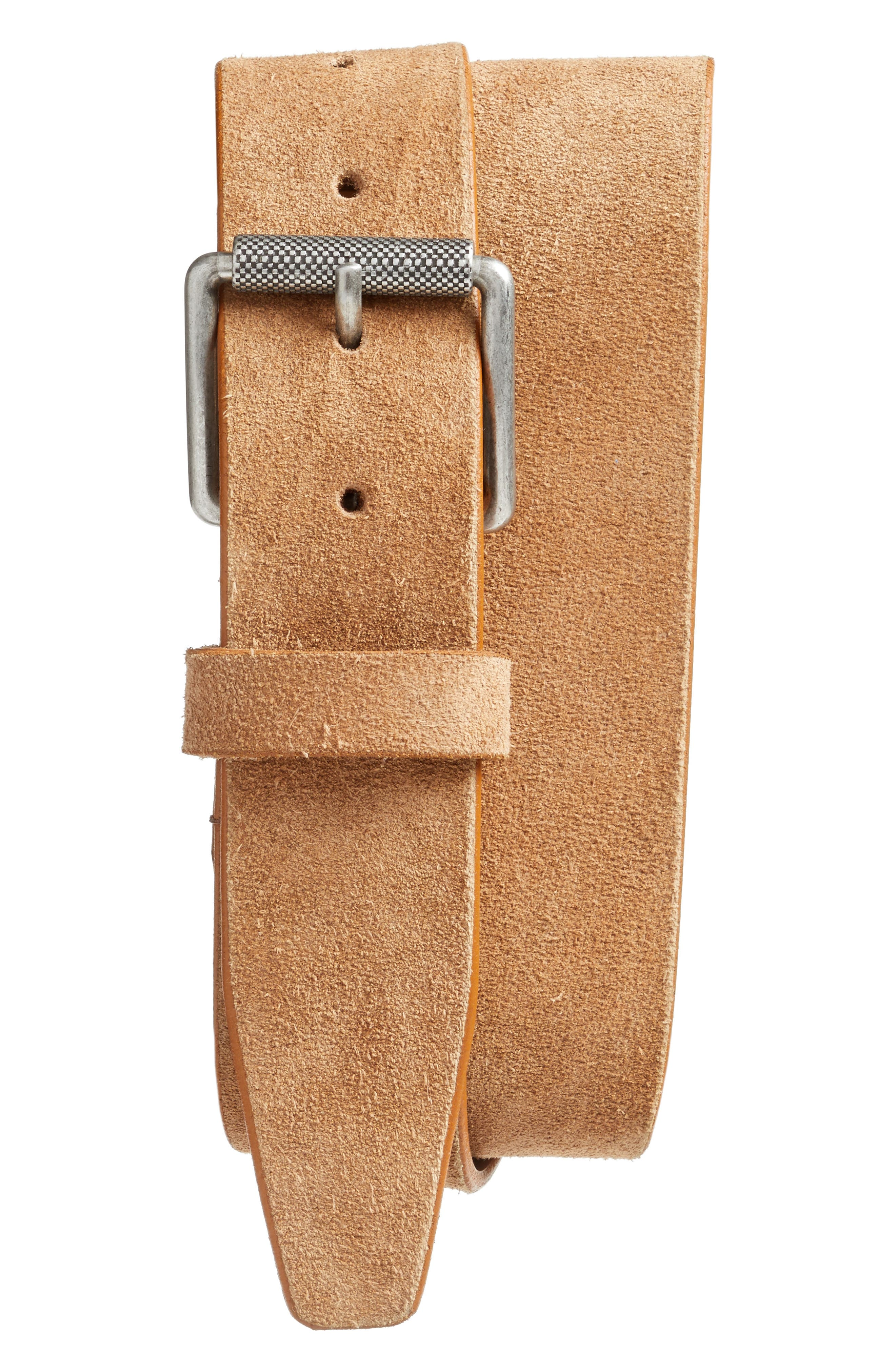 Adrian Roller Buckle Suede Belt,                             Main thumbnail 2, color,