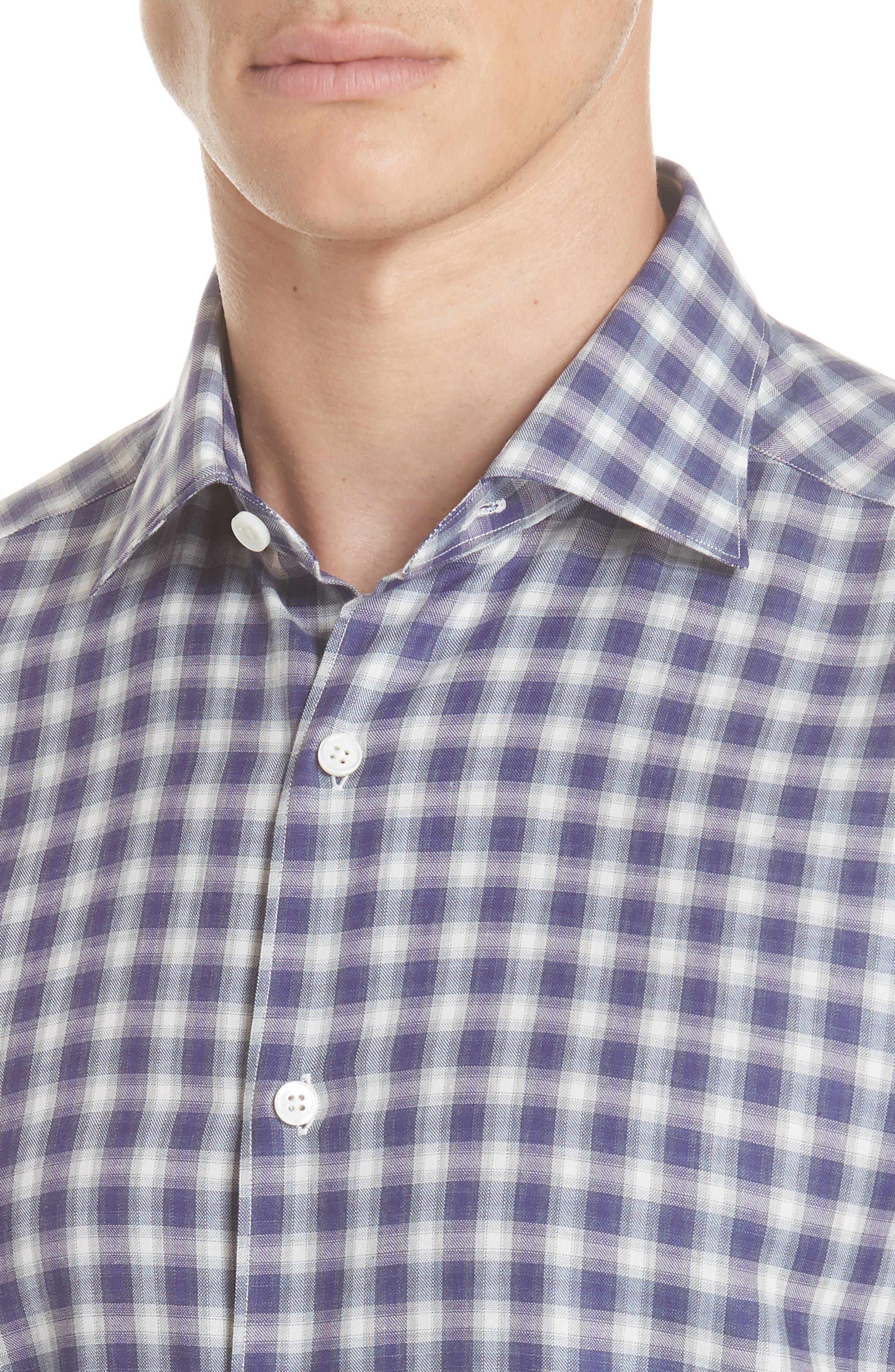 Classic Fit Check Sport Shirt,                             Alternate thumbnail 2, color,                             PURPLE