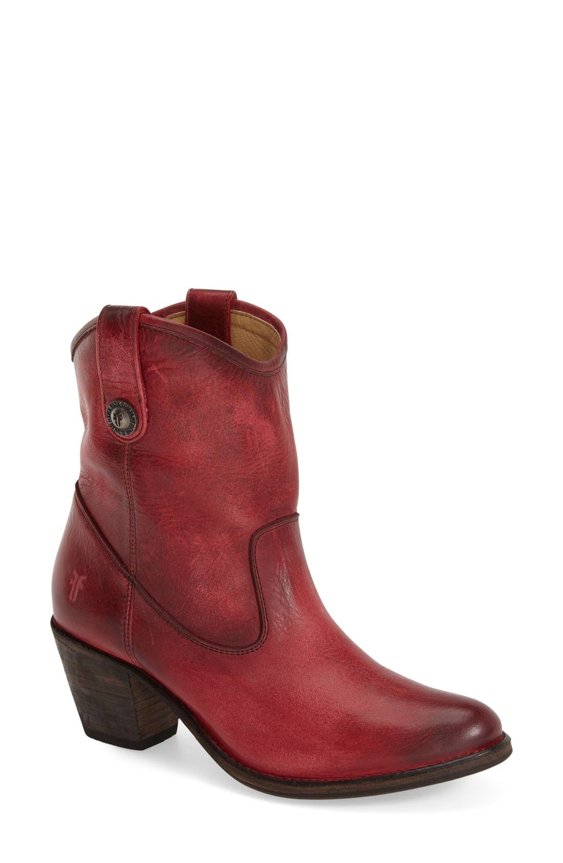 'Jackie Button' Short Bootie,                             Main thumbnail 1, color,                             930
