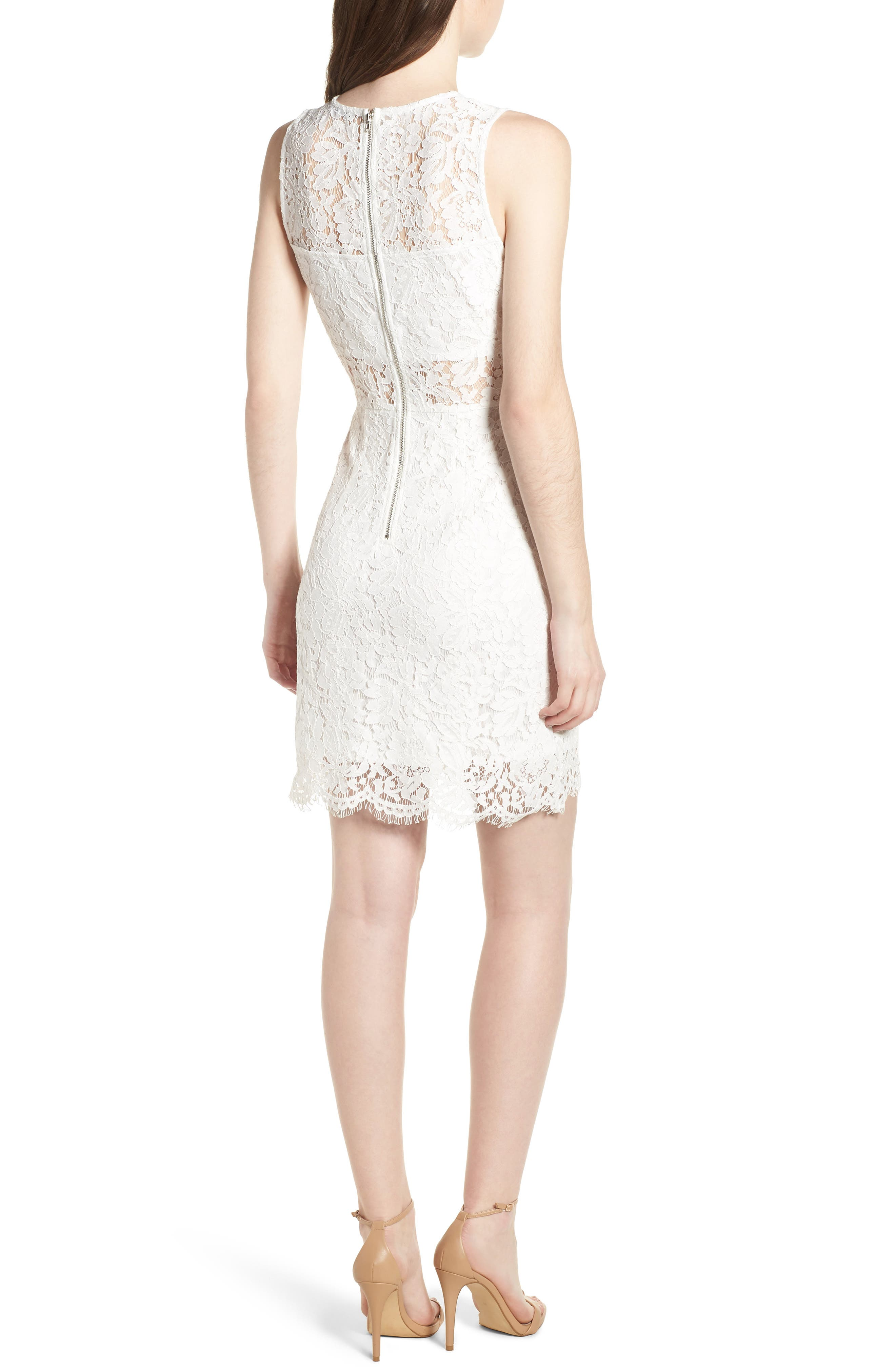 Lace Sheath Dress,                             Alternate thumbnail 2, color,                             900