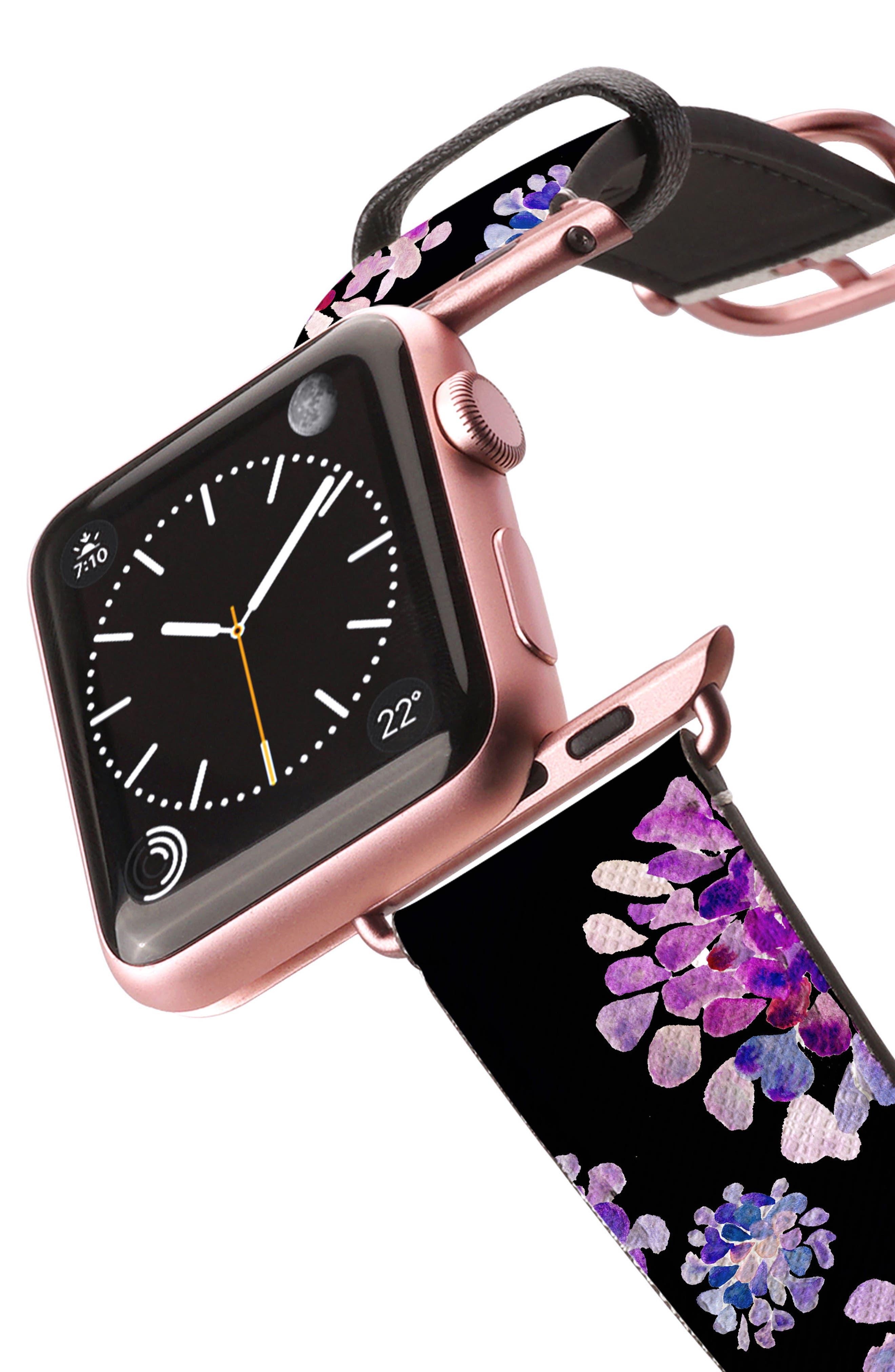 Saffiano Faux Leather Apple Watch Strap,                             Alternate thumbnail 22, color,