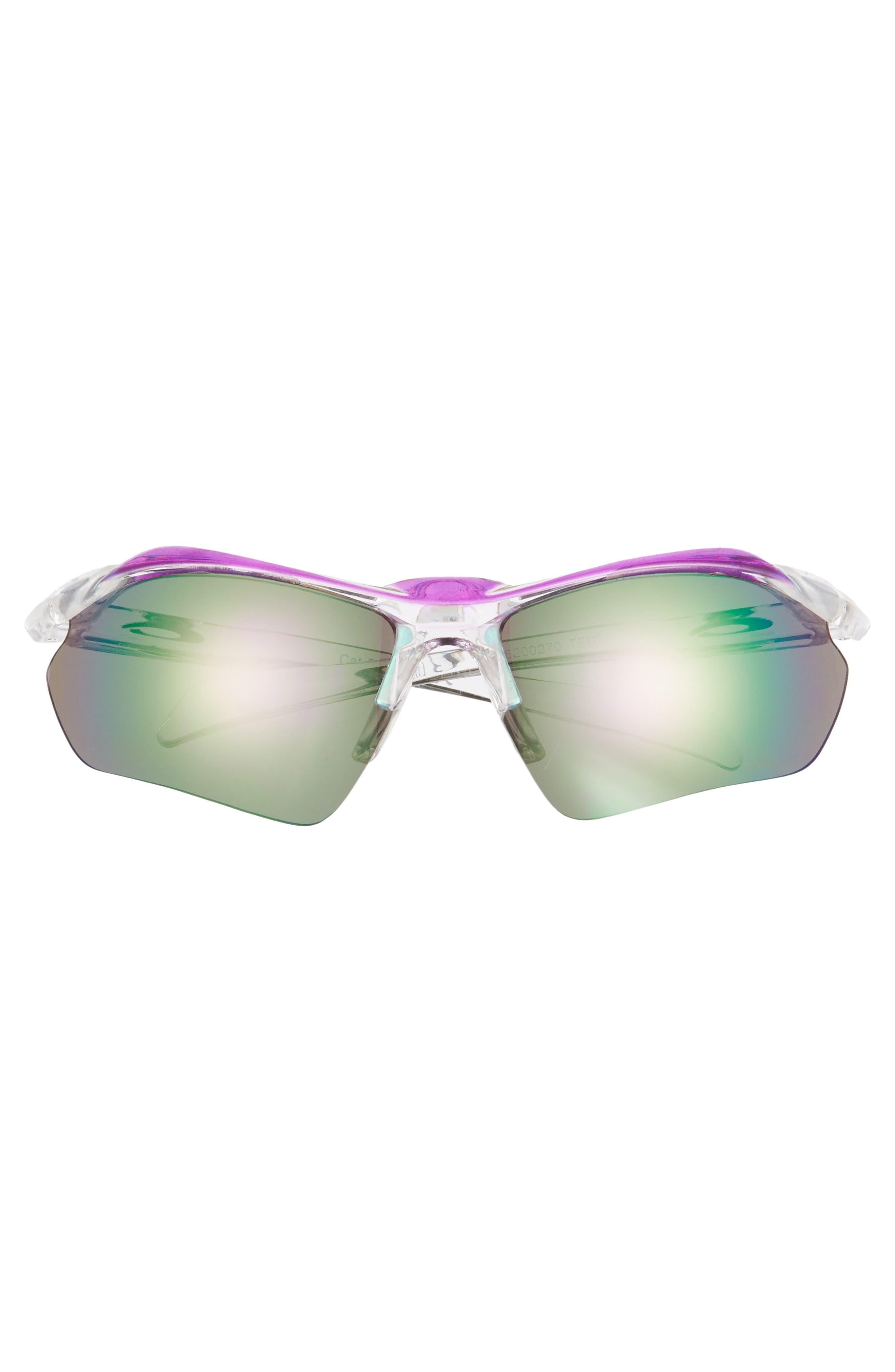 68mm Sport Shield Sunglasses,                             Alternate thumbnail 3, color,                             CLEAR/ PURPLE