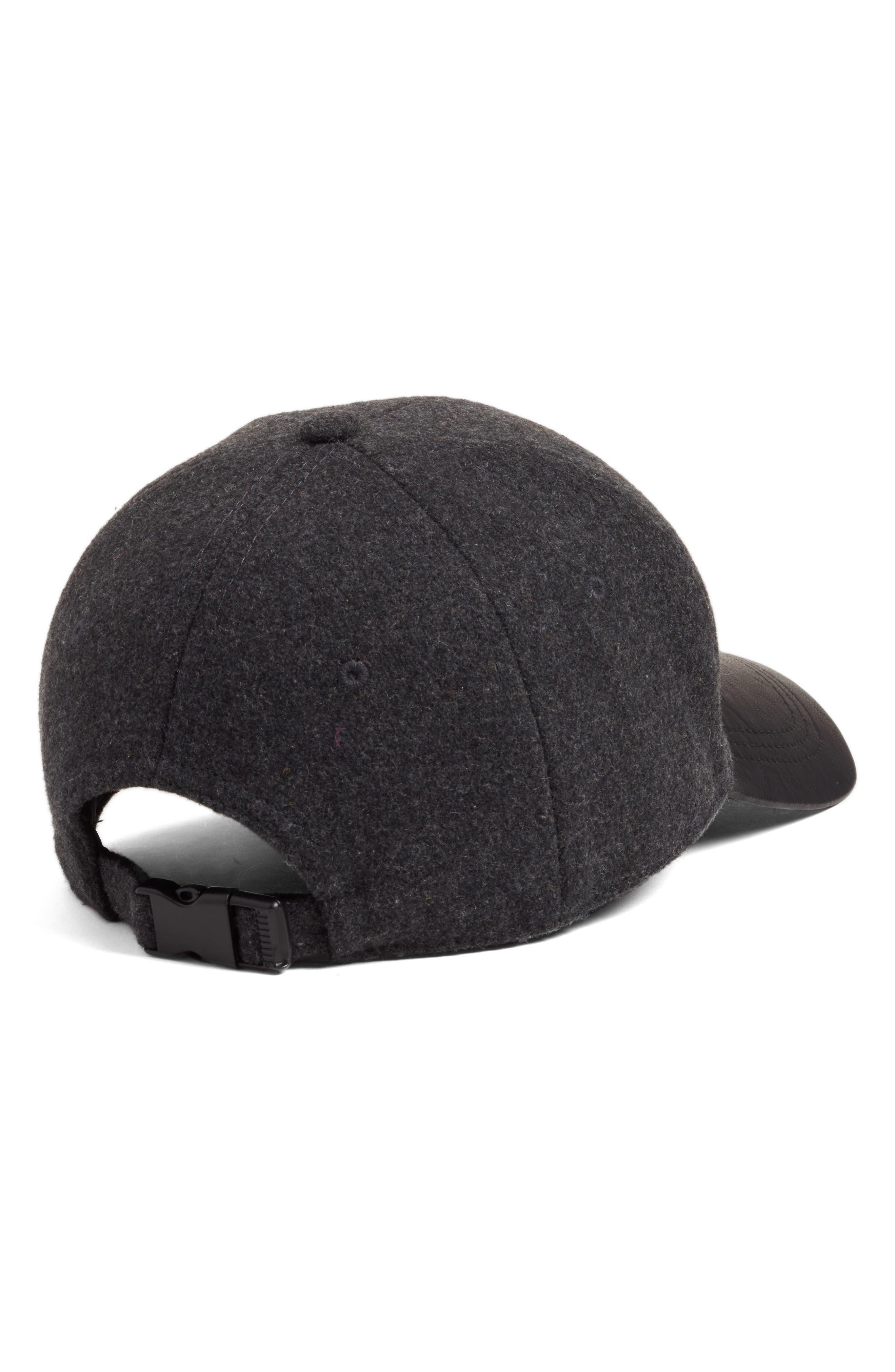 Faux Leather Brim Baseball Cap,                             Alternate thumbnail 2, color,                             020
