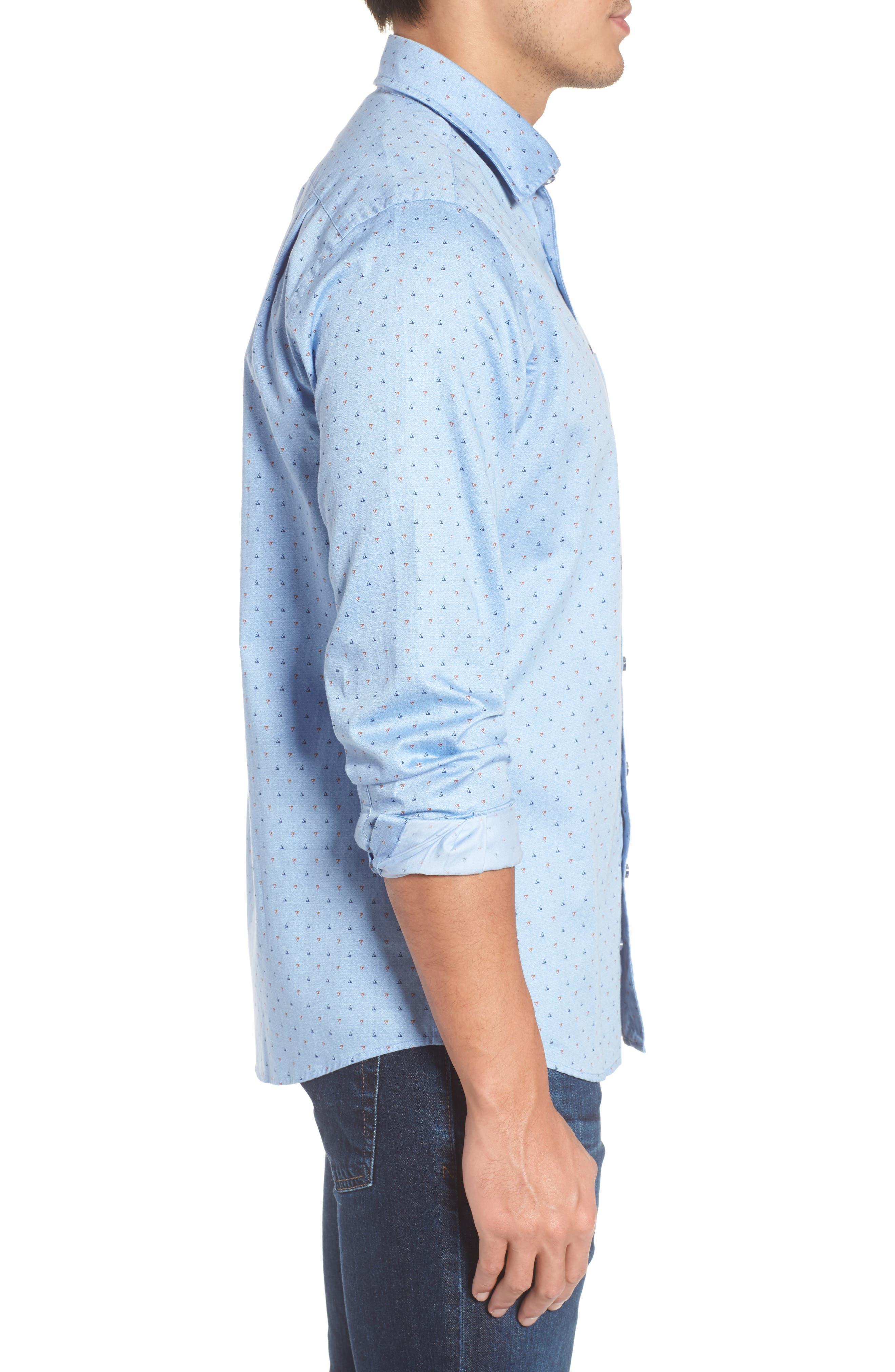 Penzance Regular Fit Sport Shirt,                             Alternate thumbnail 3, color,                             456