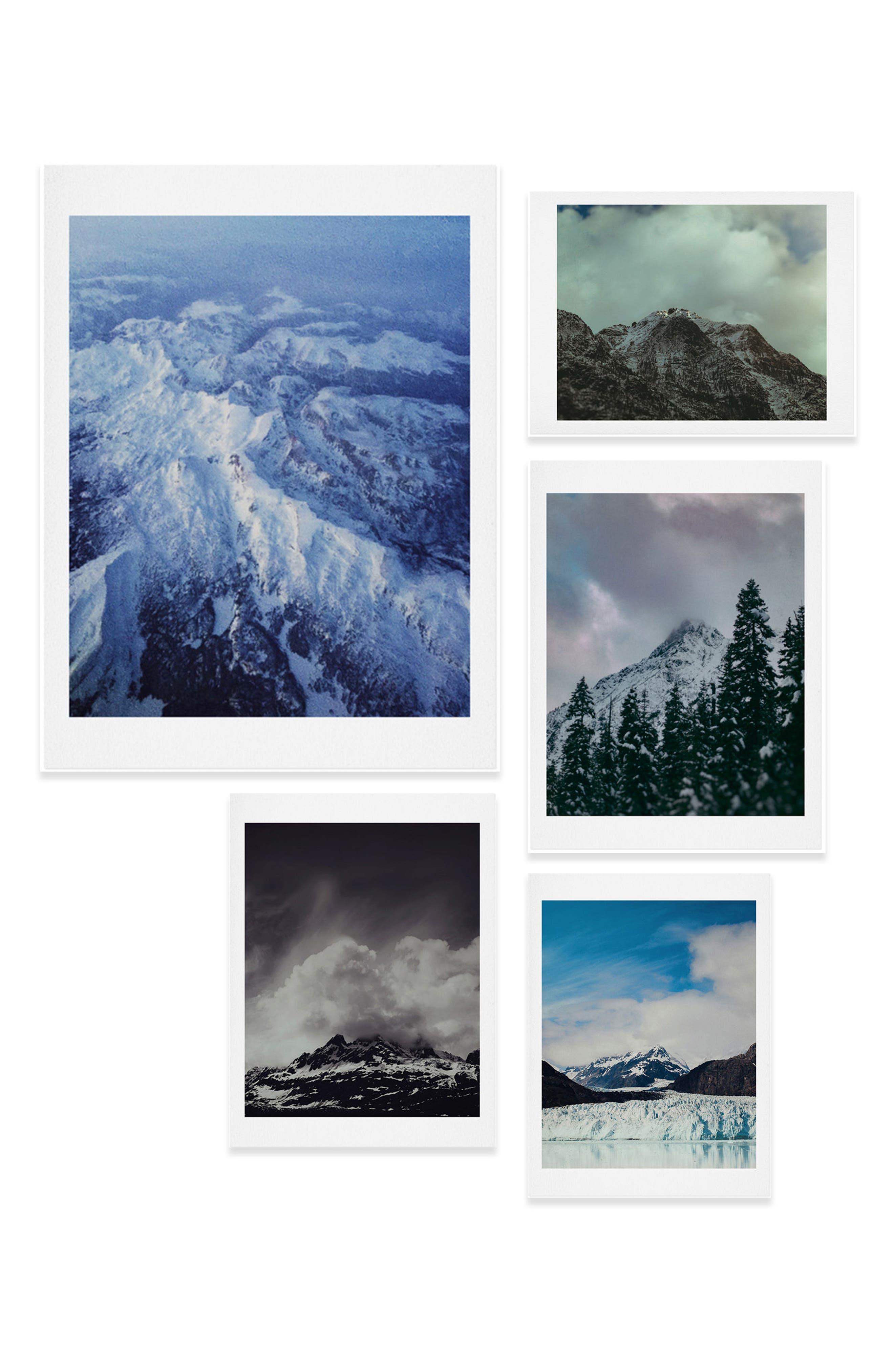 Mountain Five-Piece Gallery Wall Art Print Set,                             Main thumbnail 1, color,                             400