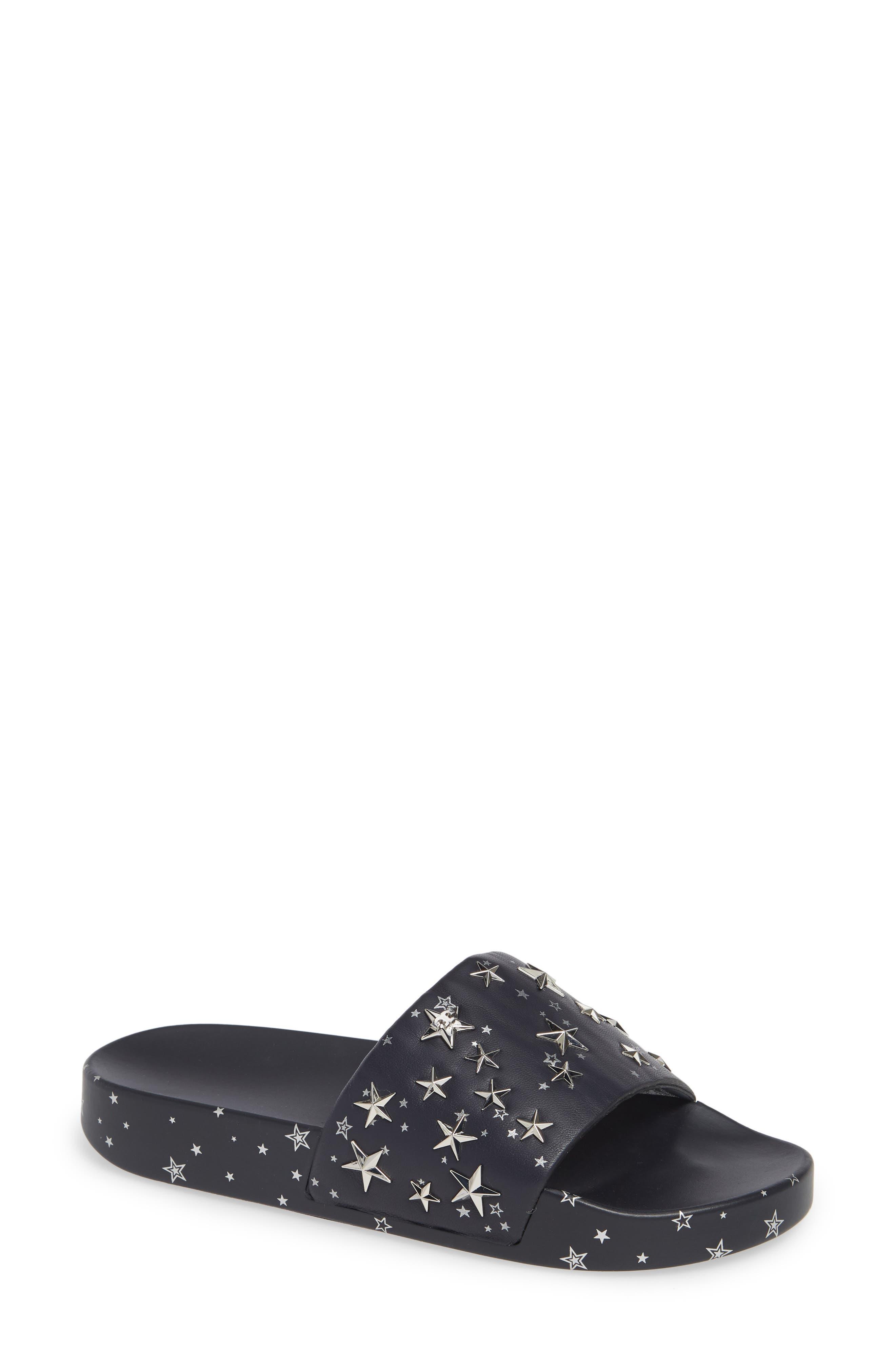 Tory Burch Studded Star Slide Sandal, Blue