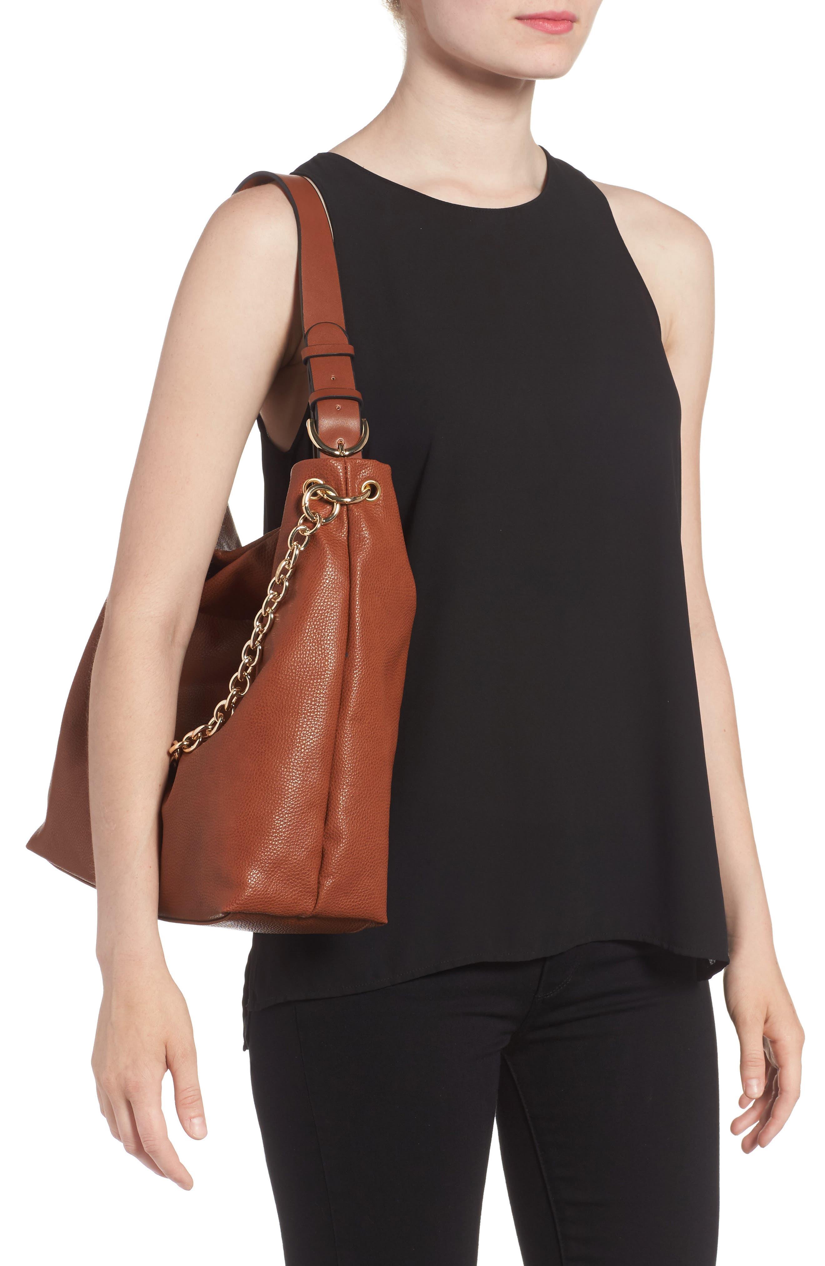 Taylor Faux Leather Shoulder Bag,                             Alternate thumbnail 6, color,