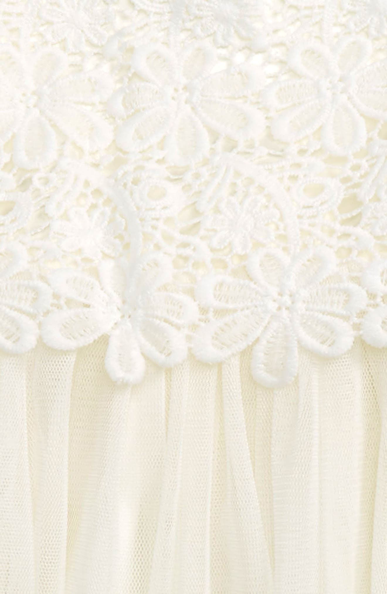 Lace & Tulle Dress,                             Main thumbnail 1, color,                             WHITE