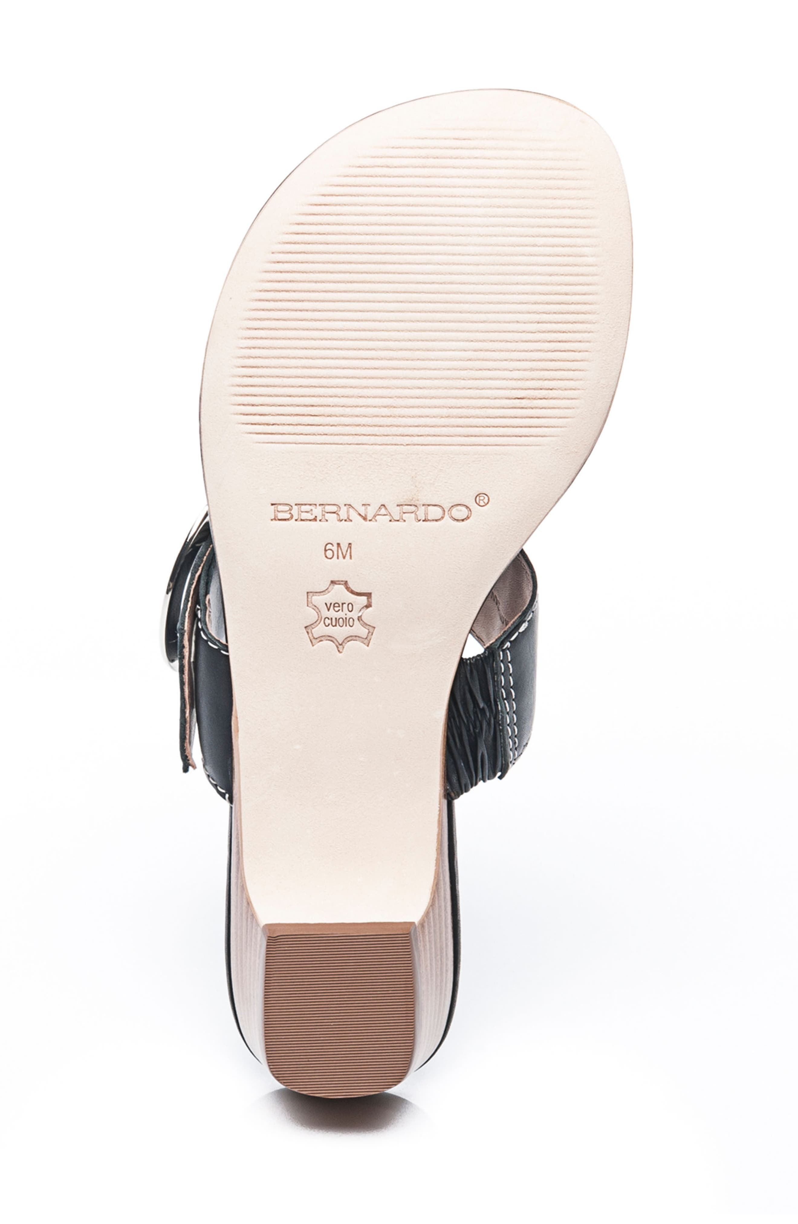Bernardo Grace Sandal,                             Alternate thumbnail 6, color,                             001