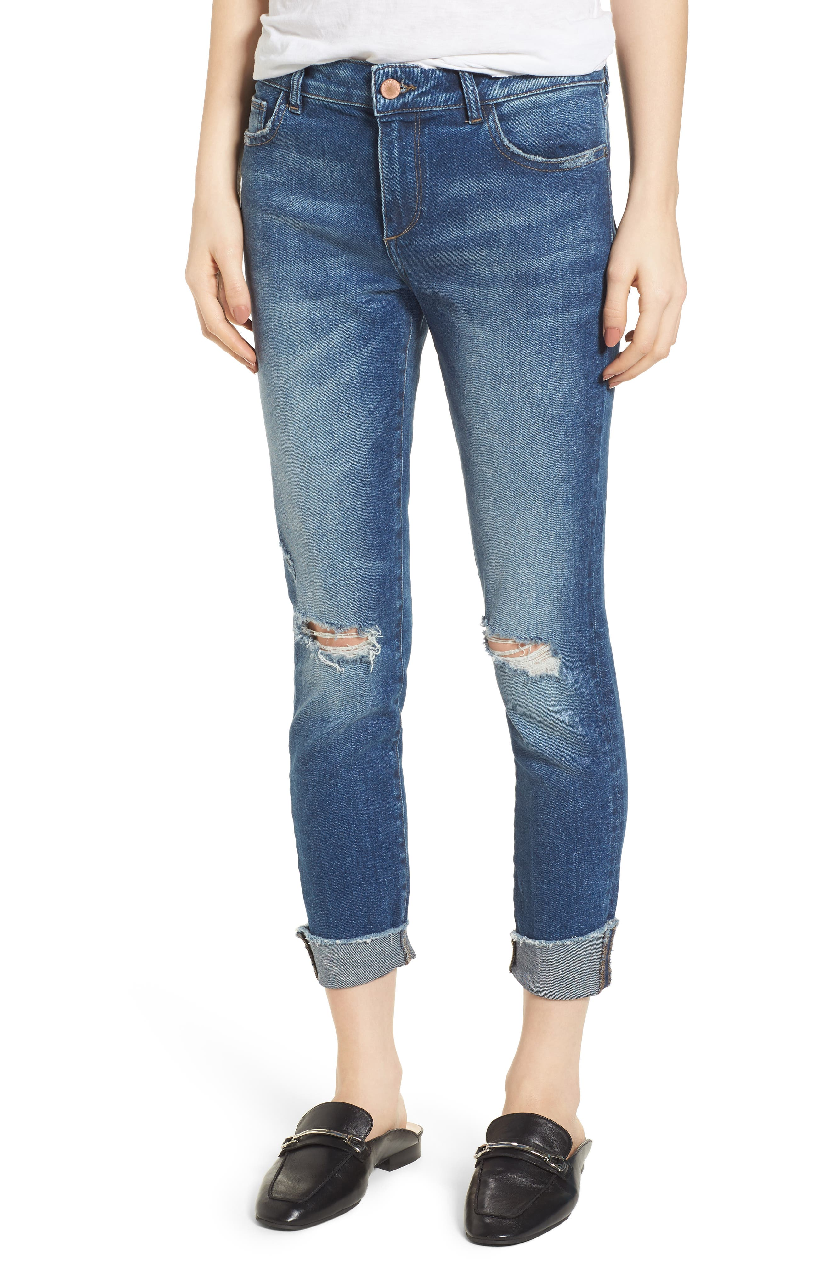 Florence Instasculpt Crop Skinny Jeans,                             Main thumbnail 1, color,                             400