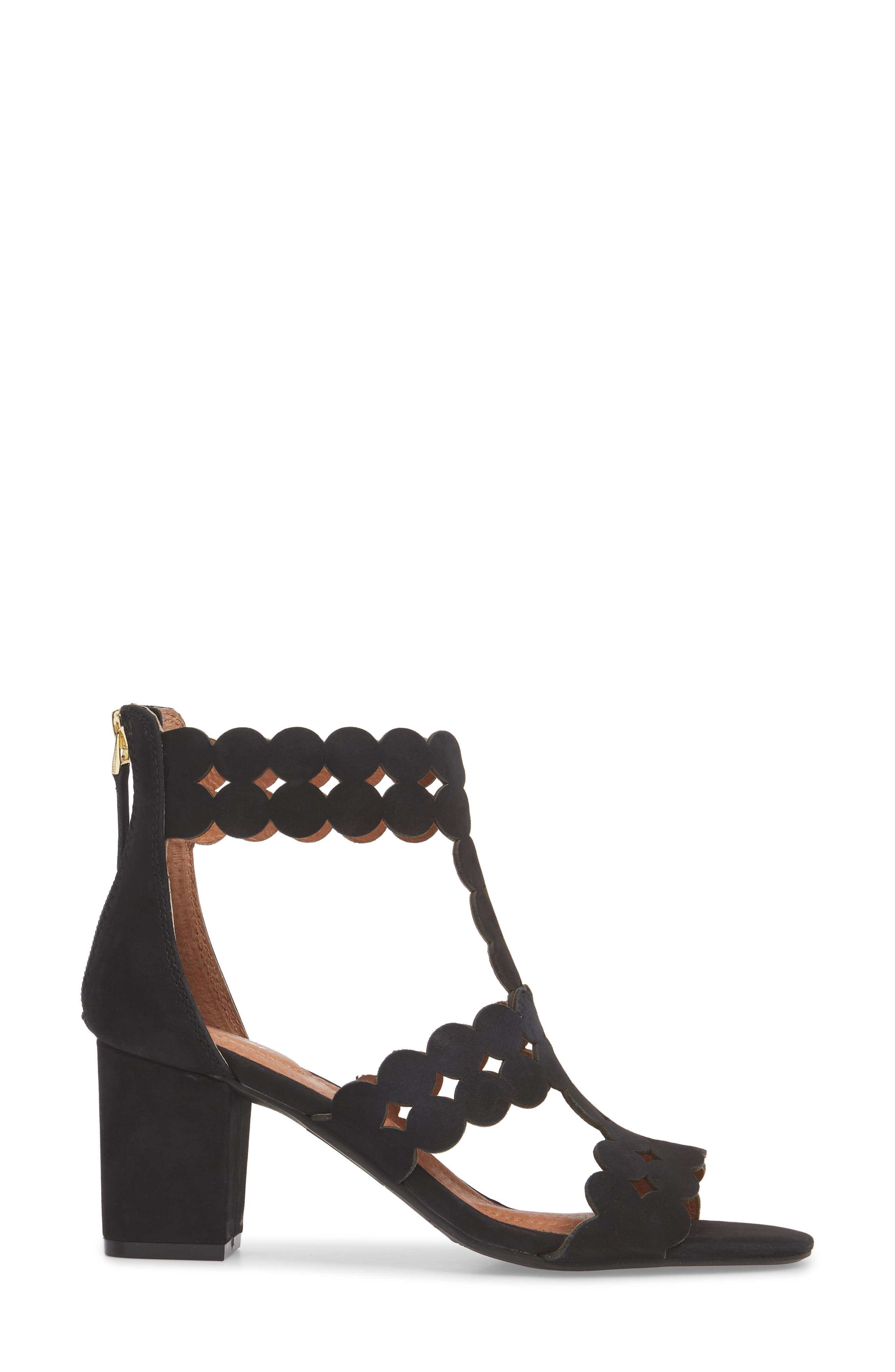 SUDINI,                             Novara Block Heel Sandal,                             Alternate thumbnail 3, color,                             BLACK NUBUCK LEATHER