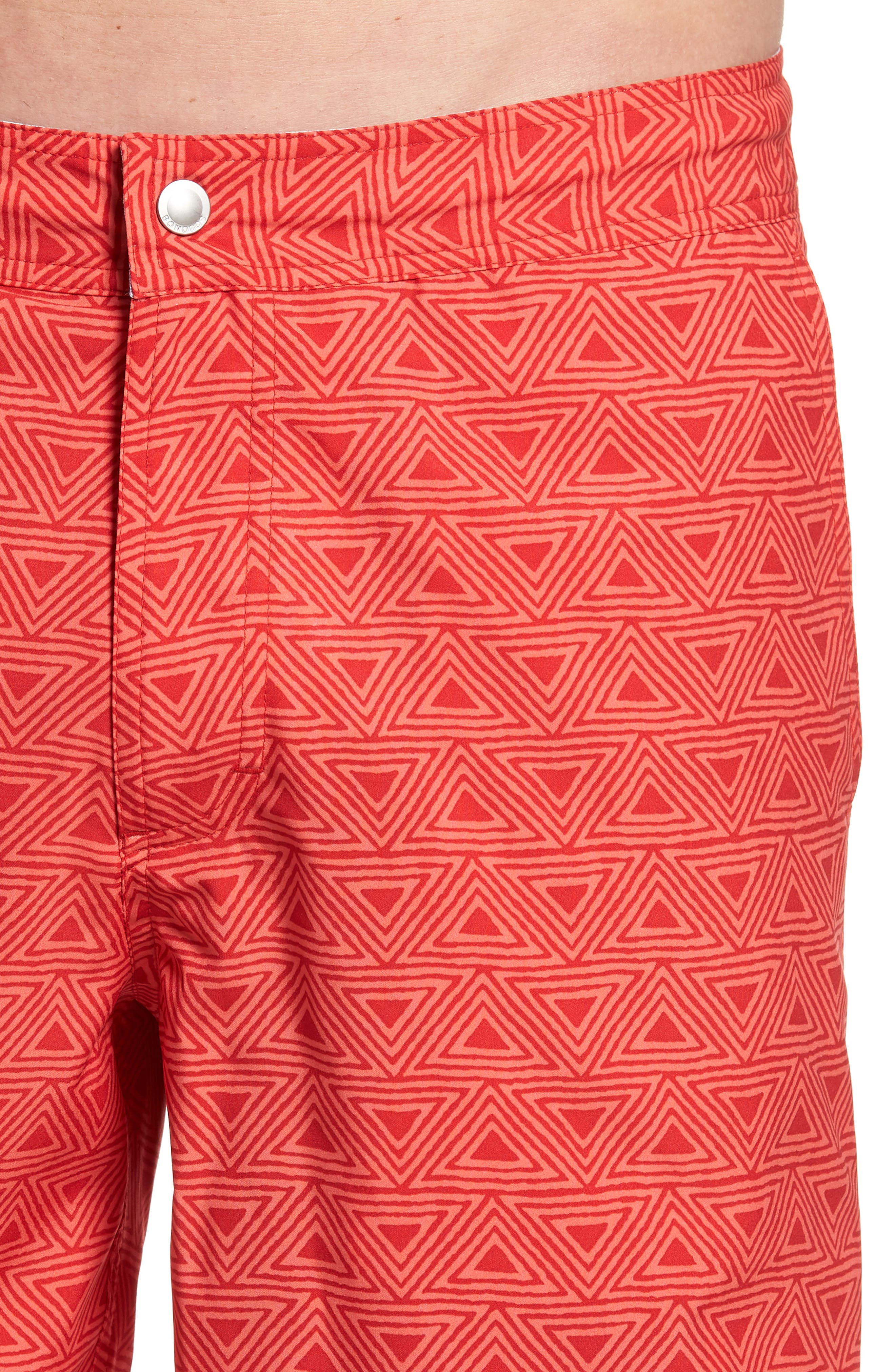 Geo Print 7-Inch Swim Trunks,                             Alternate thumbnail 4, color,                             650