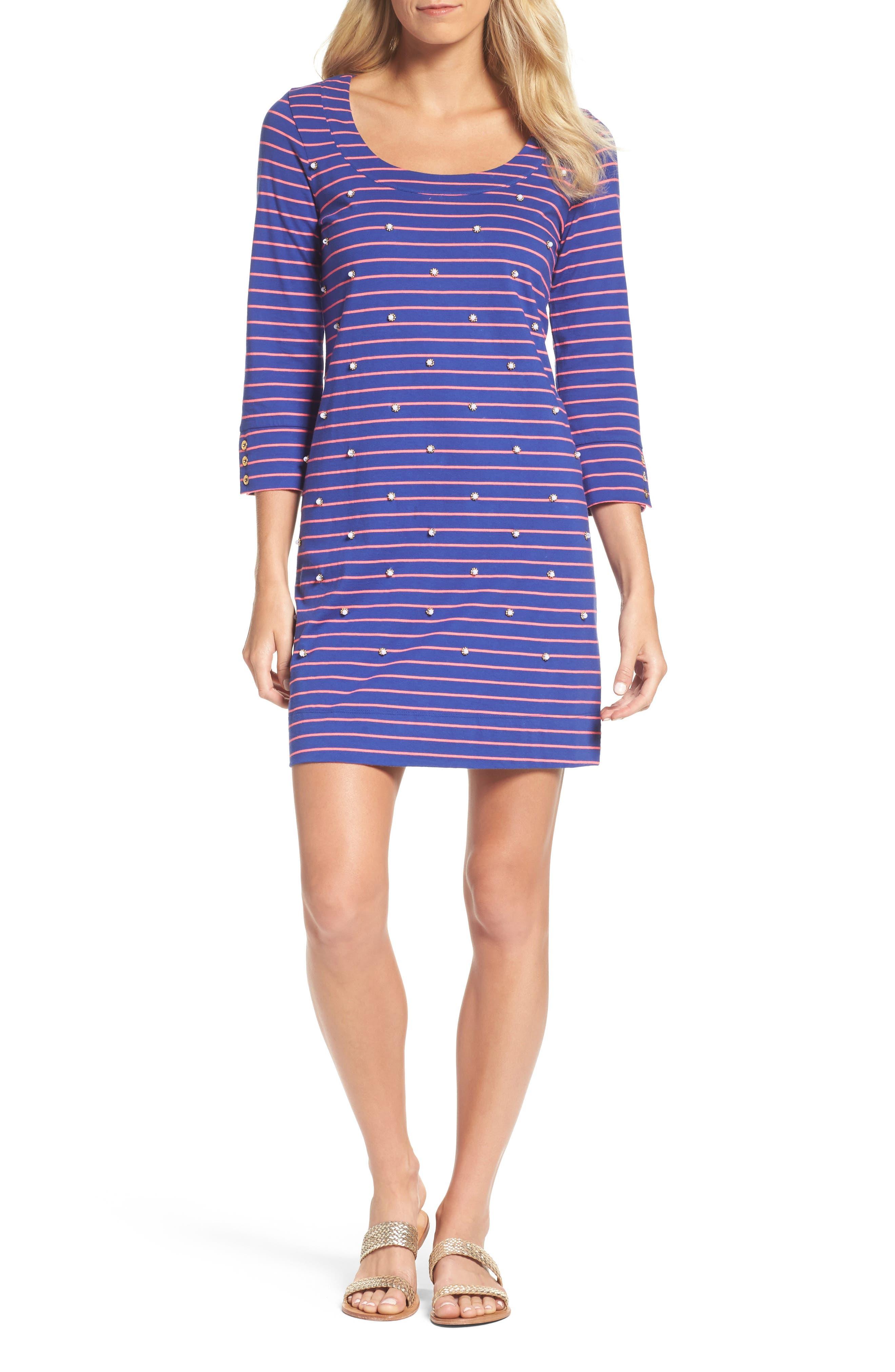 Merrit Beaded T-Shirt Dress,                         Main,                         color,