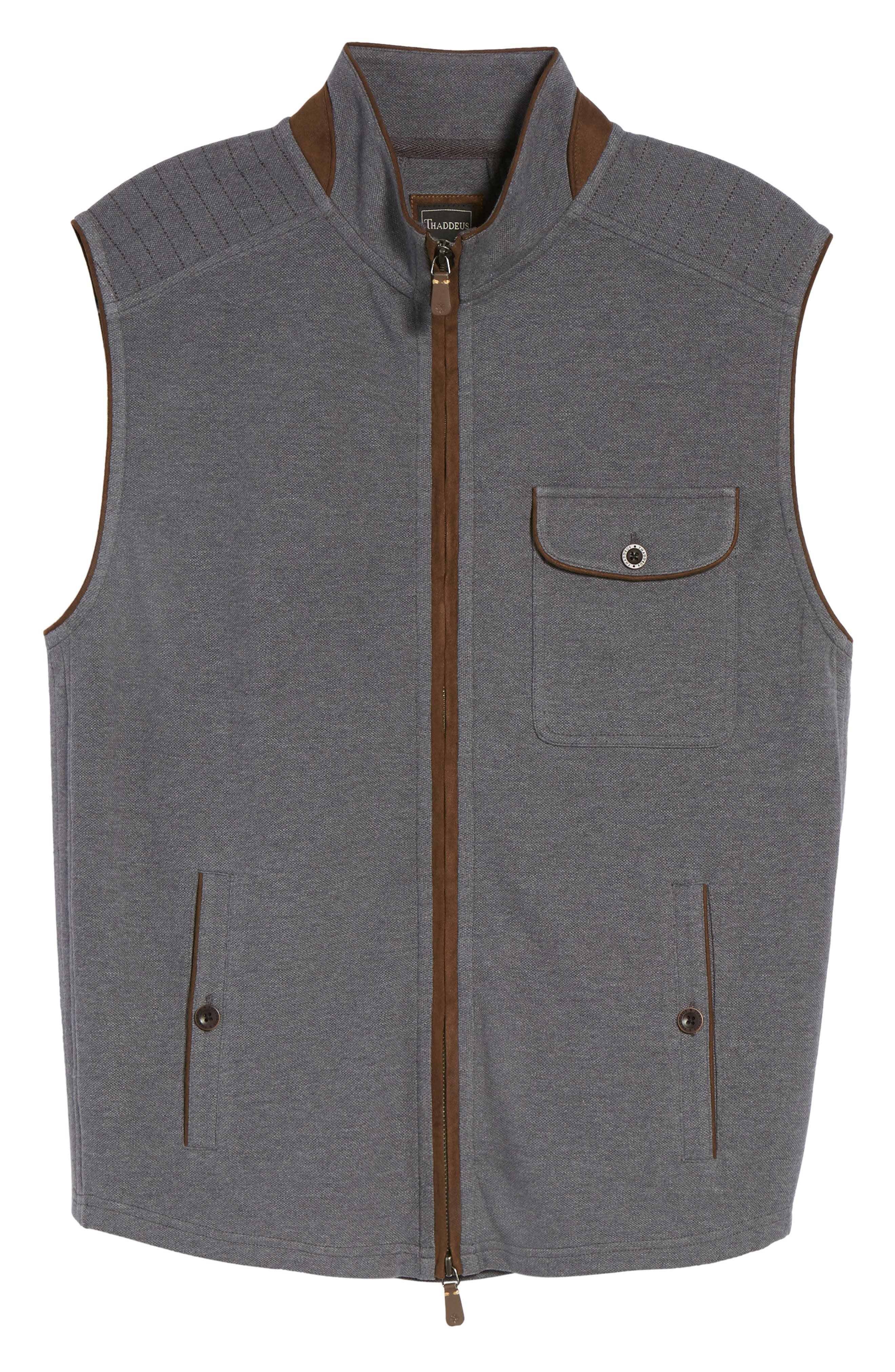 THADDEUS,                             Robert Full Zip Vest,                             Alternate thumbnail 6, color,                             014