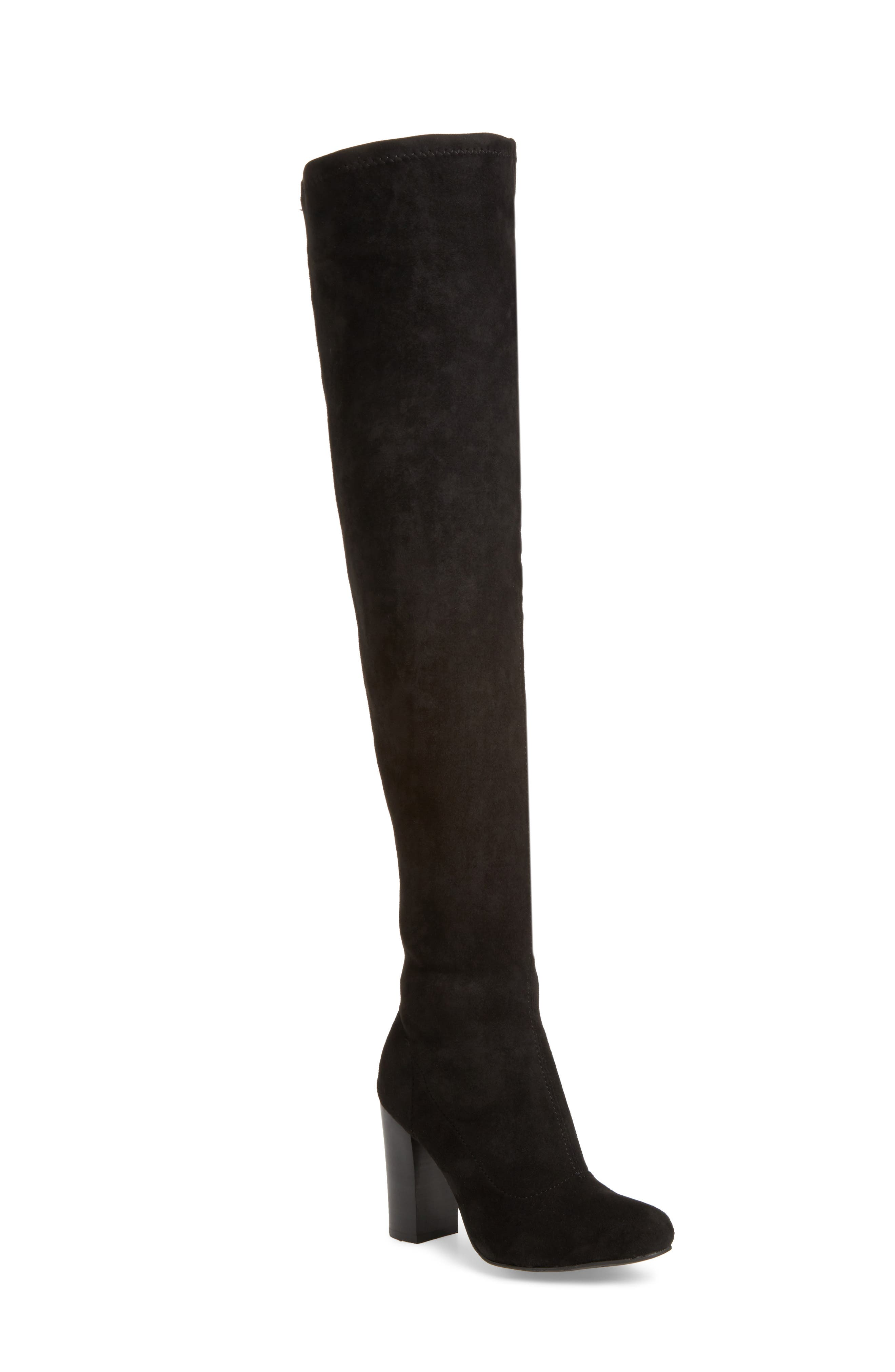 Christa Thigh High Boot,                         Main,                         color, 001