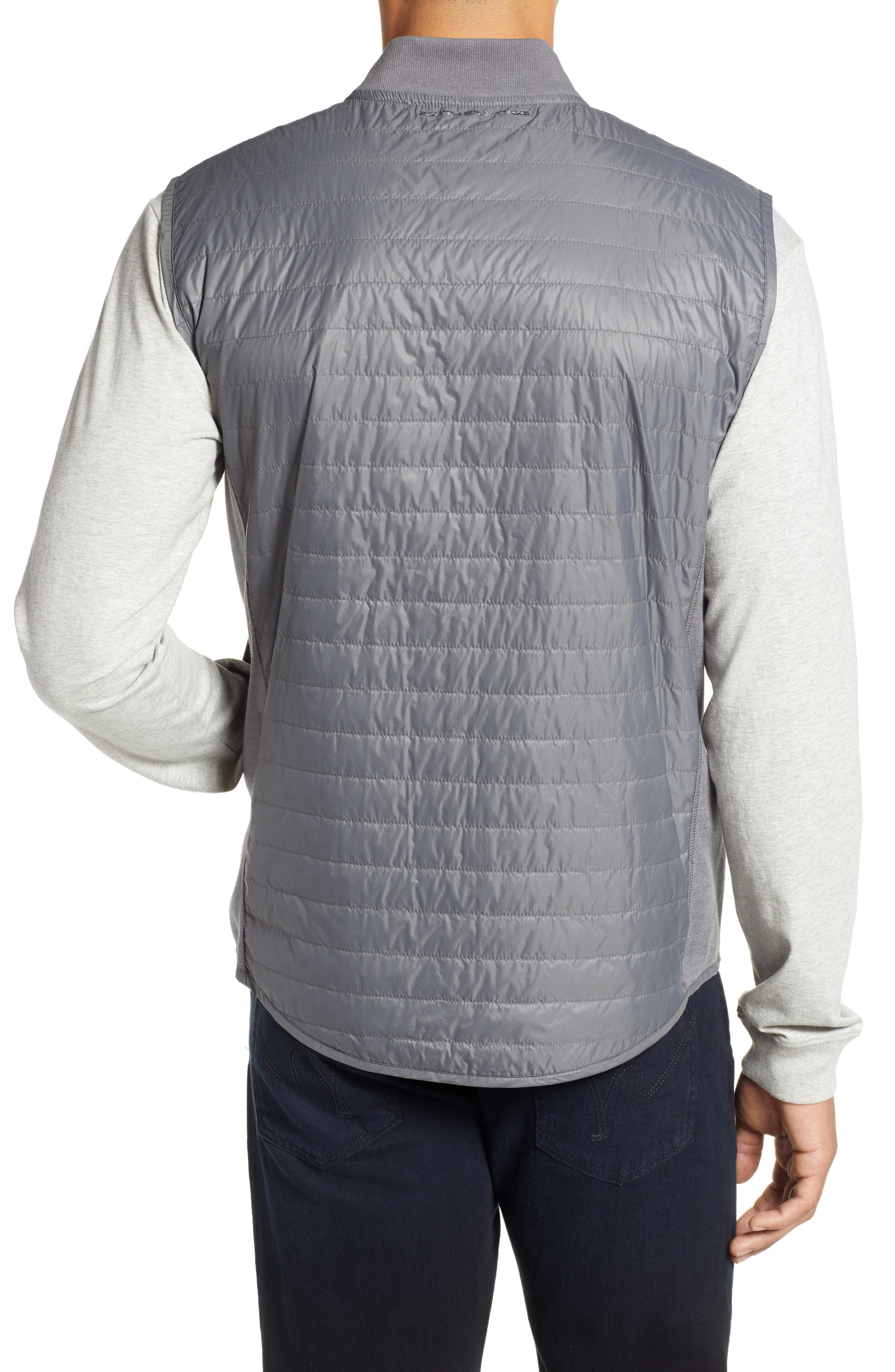 Forrest Creek Bomber Vest,                             Alternate thumbnail 2, color,                             SMOKED PEARL