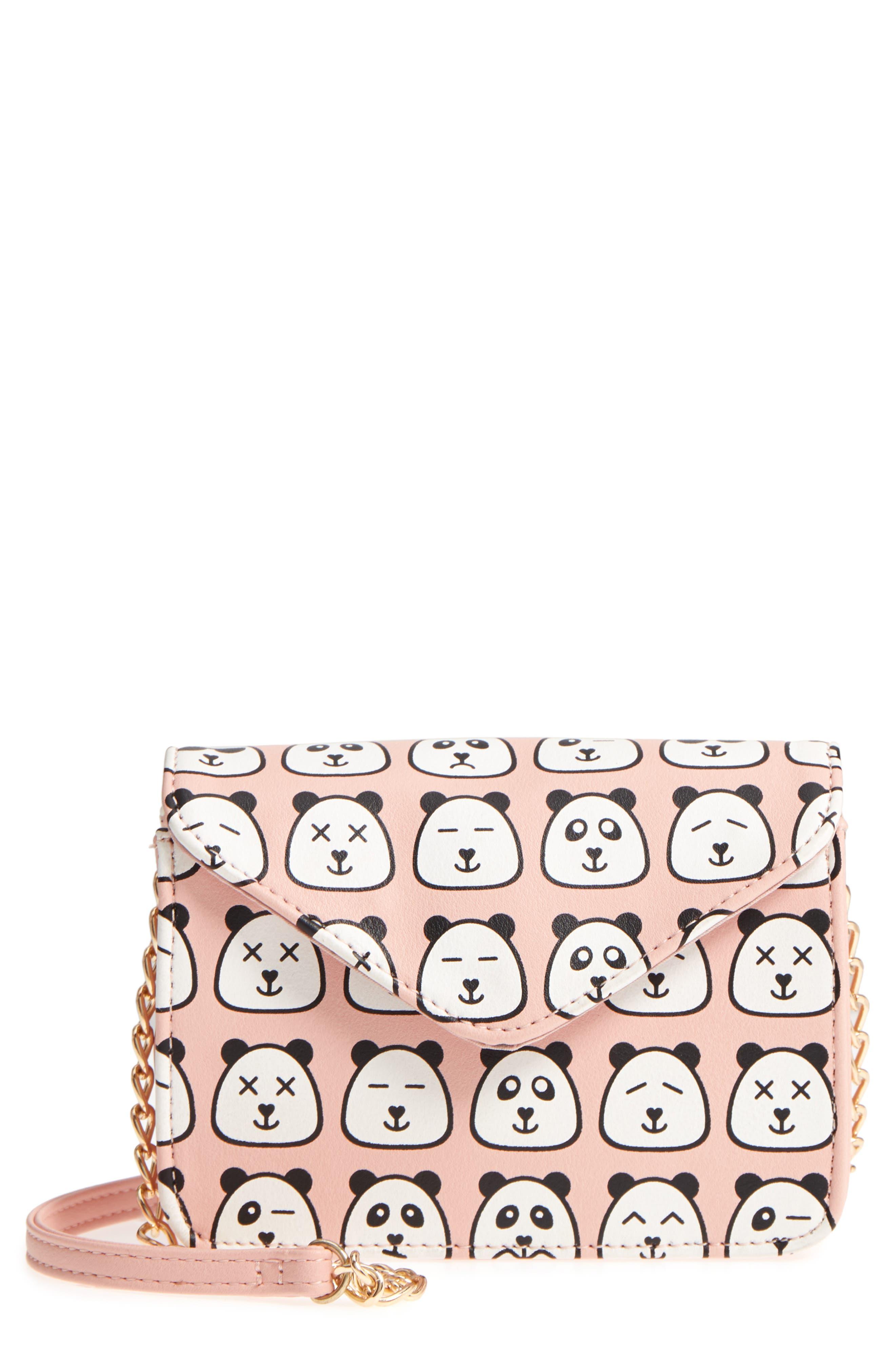Panda Print Crossbody Bag,                         Main,                         color,
