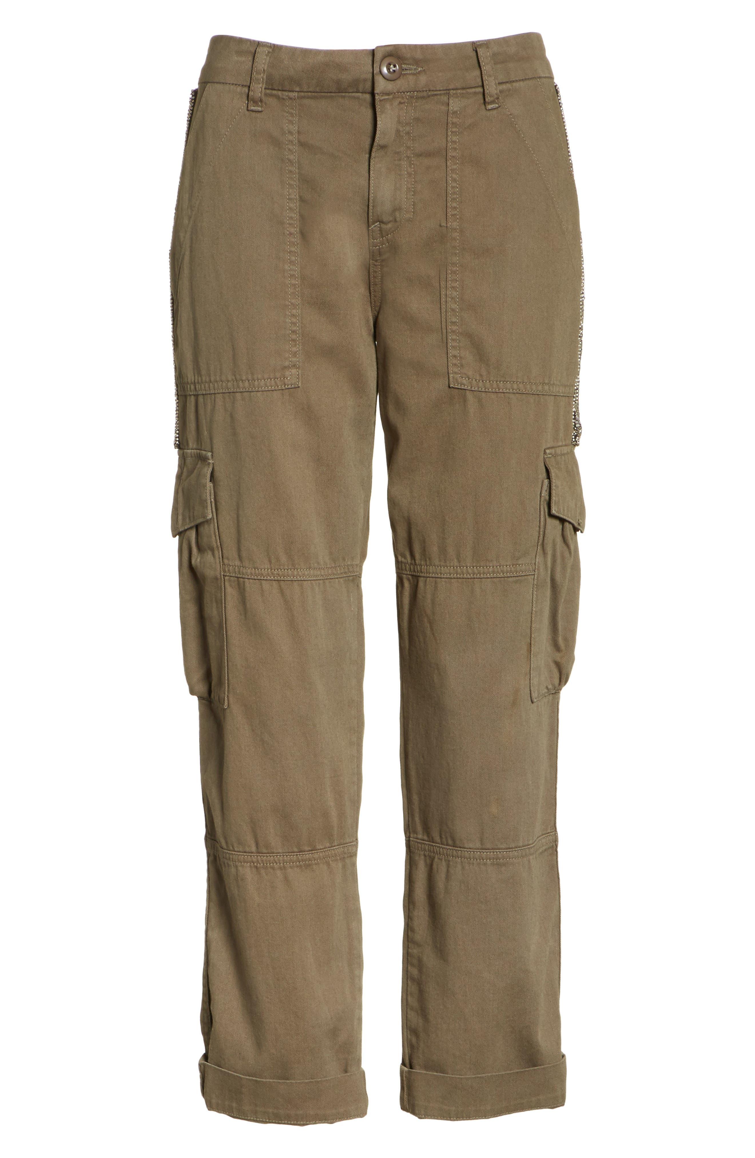 Embellished Cargo Pants,                             Alternate thumbnail 6, color,