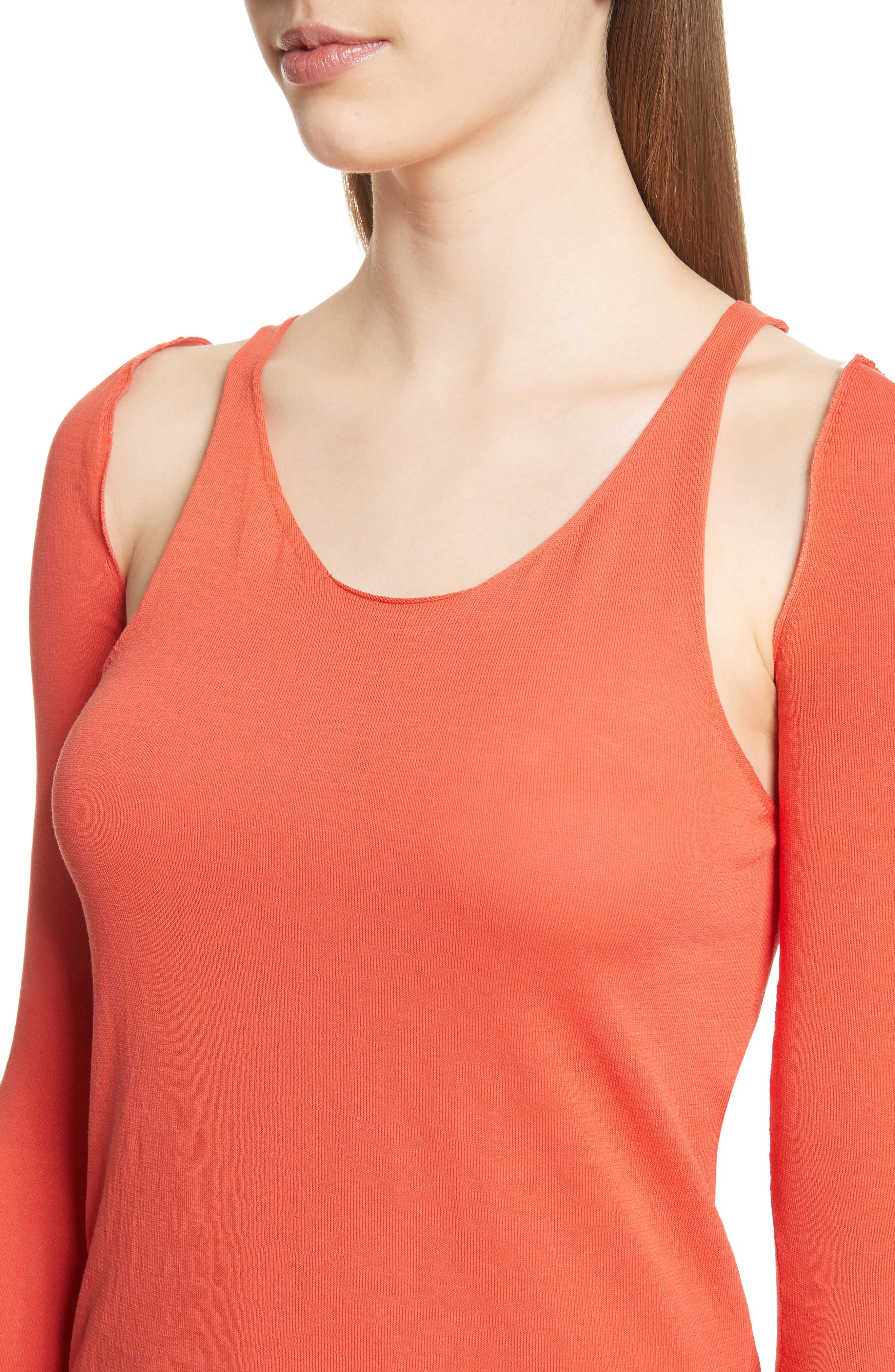 Ribbed Tank Top with Long Sleeves,                             Alternate thumbnail 4, color,                             808