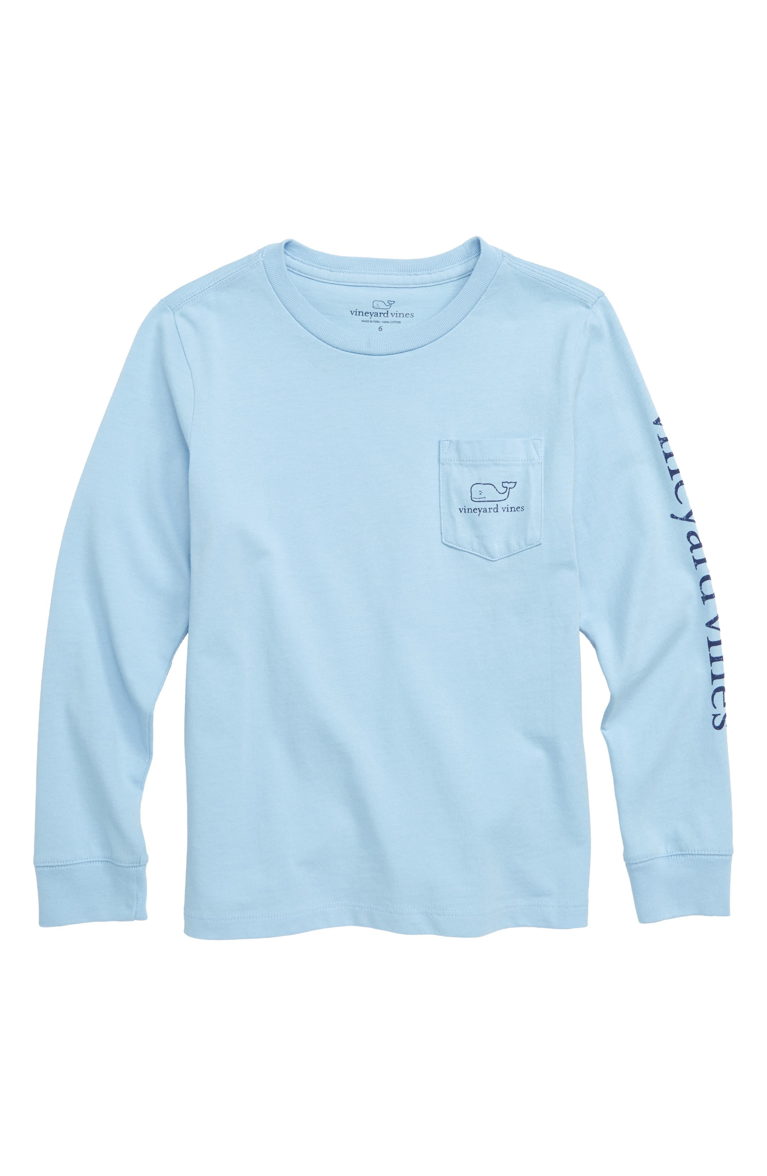 Vintage Whale Graphic Long Sleeve T-Shirt,                             Main thumbnail 1, color,                             JAKE BLUE