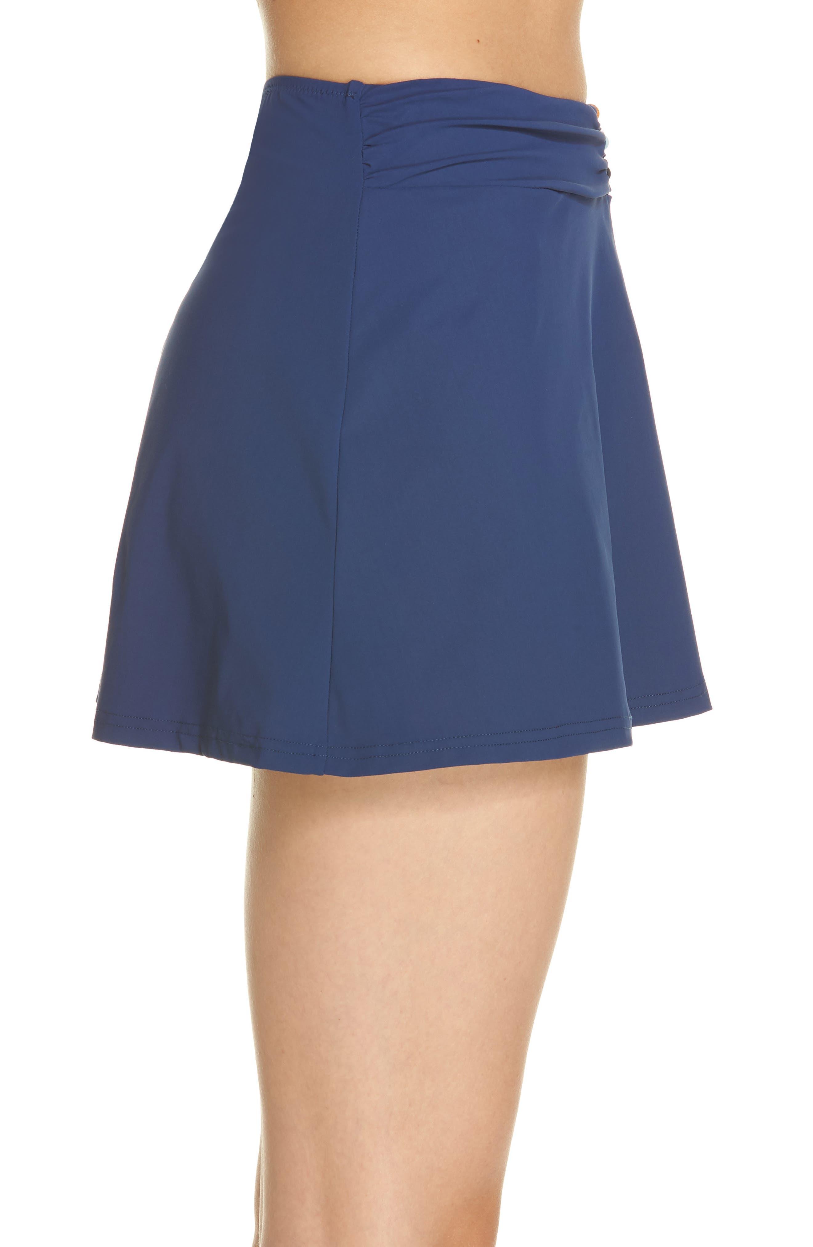 Beaded Cover-Up Skirt,                             Alternate thumbnail 3, color,                             PETROL