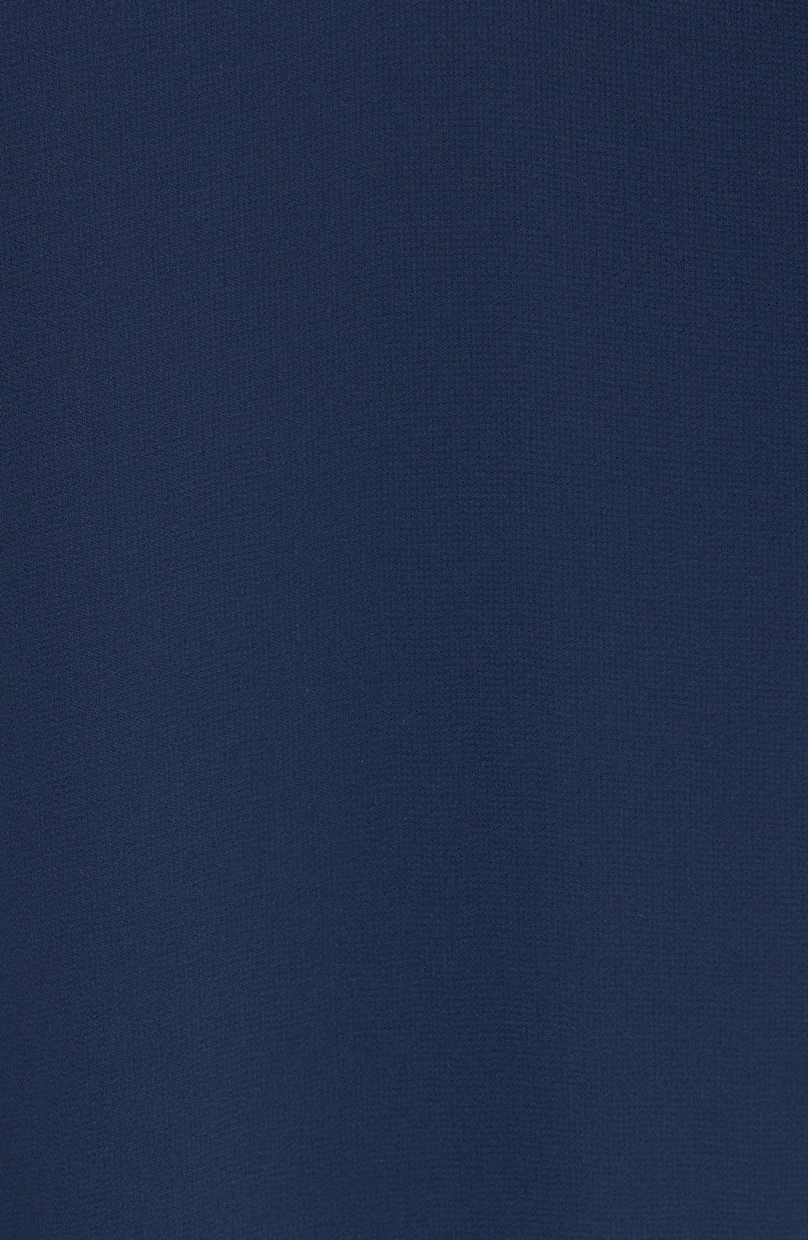 Ruffle Sleeve Shift Dress,                             Alternate thumbnail 18, color,