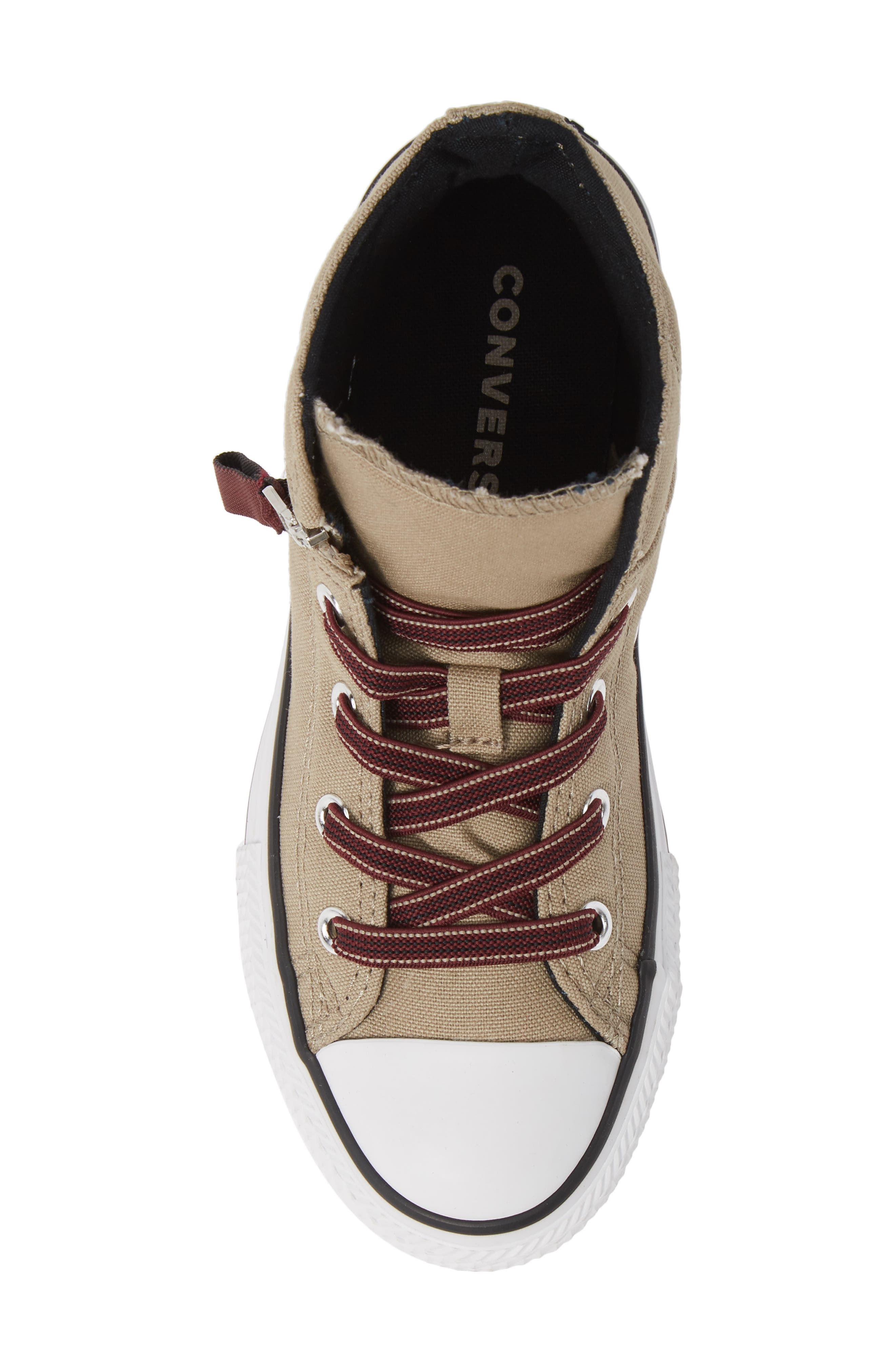 Chuck Taylor<sup>®</sup> All Star<sup>®</sup> Pull Zip High Top Sneaker,                             Alternate thumbnail 5, color,                             KHAKI