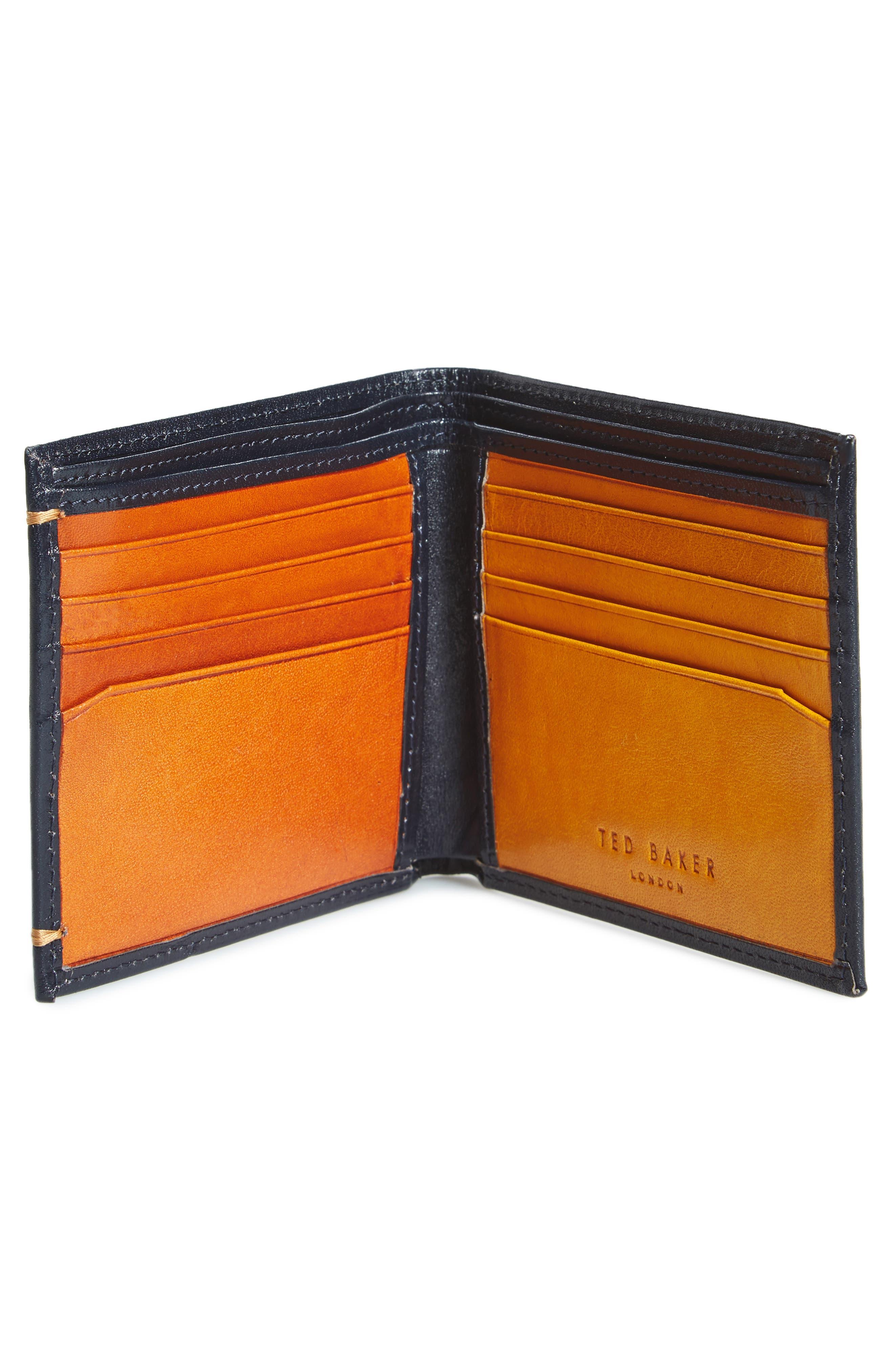 Vivid Leather Wallet,                             Alternate thumbnail 4, color,