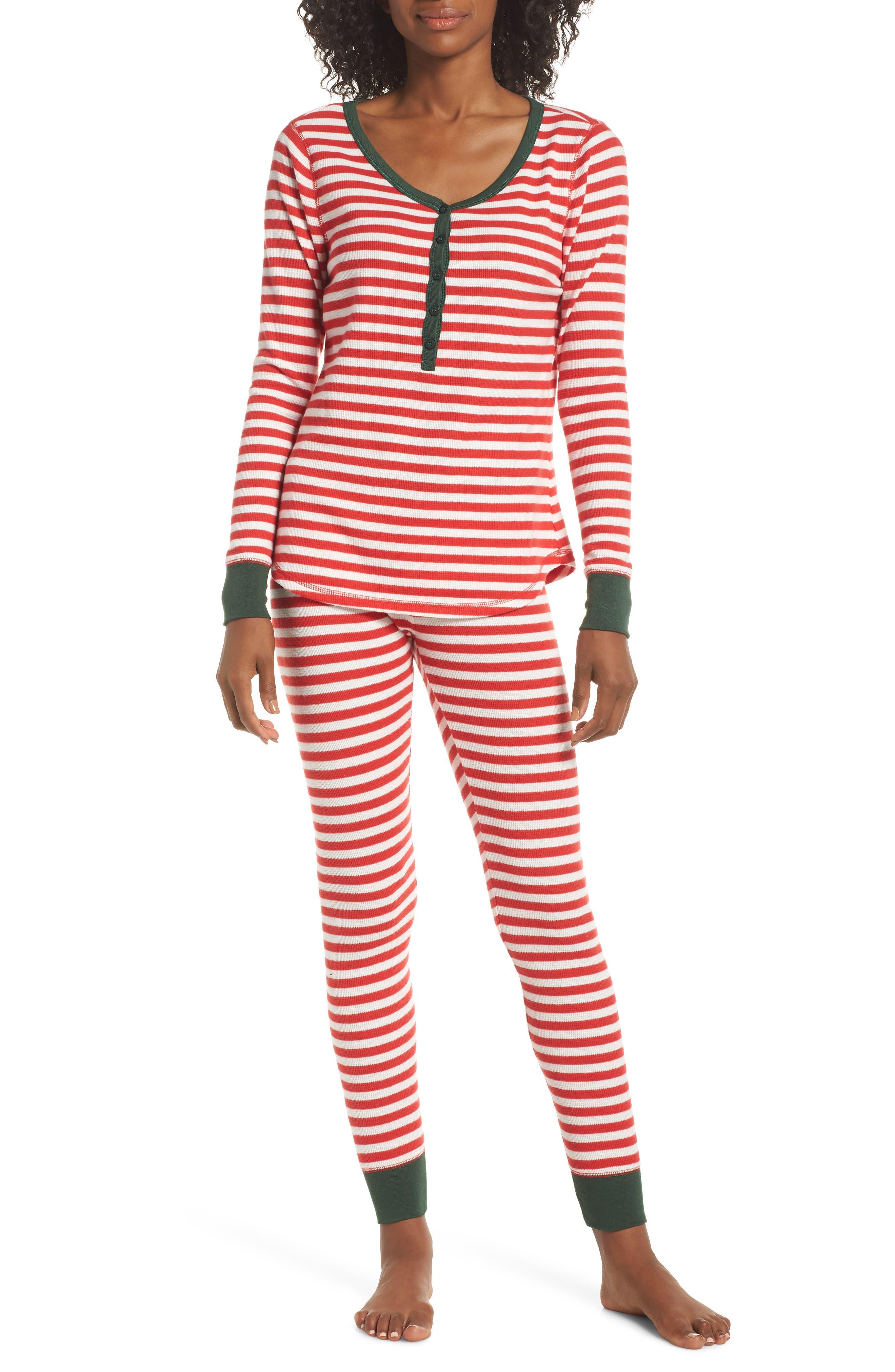 Nordstrom Lingerie Sleepyhead Thermal Pajamas, Red