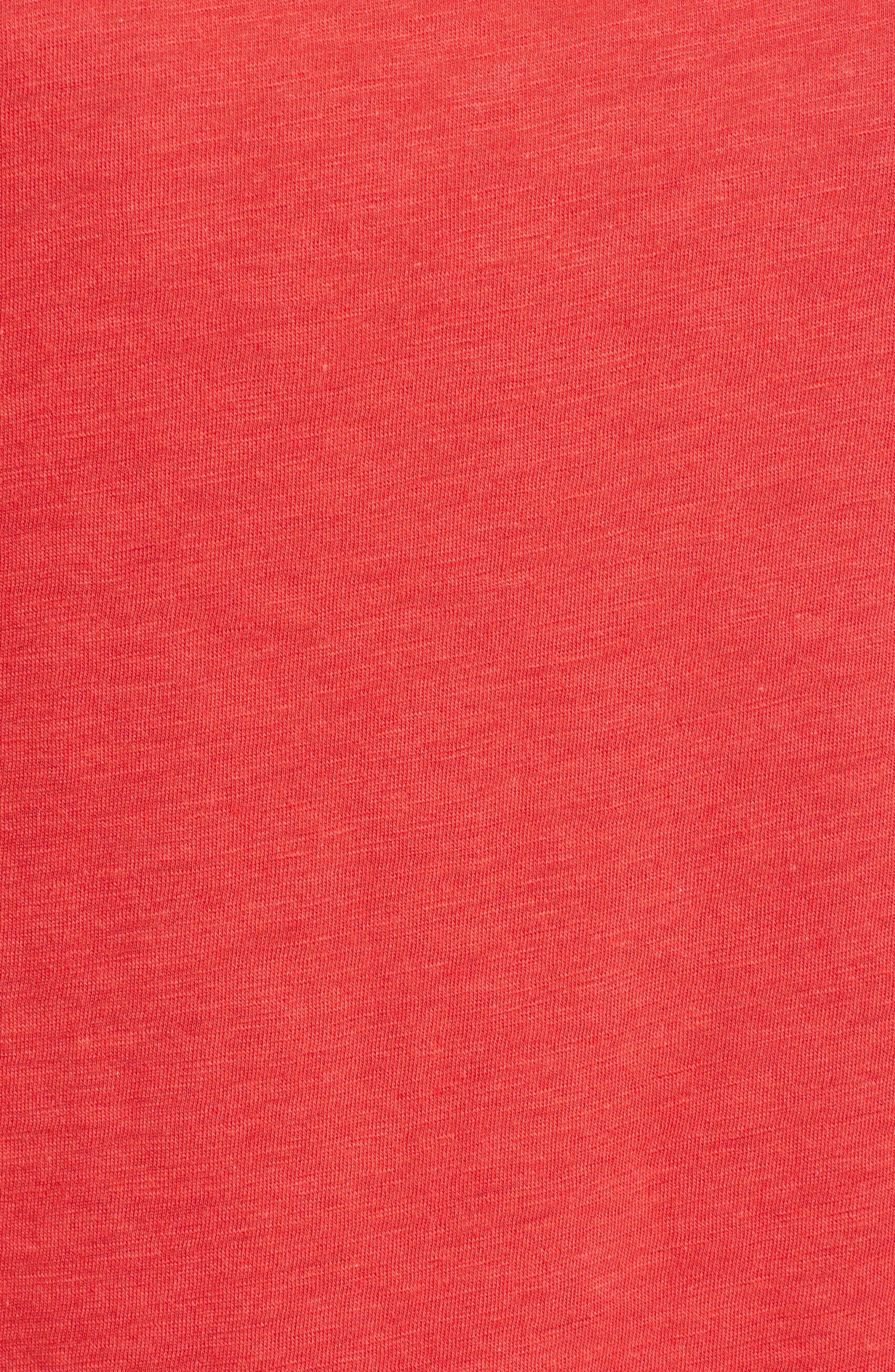 Stripe Sleeve Cotton Blend Athletic Tee,                             Alternate thumbnail 21, color,