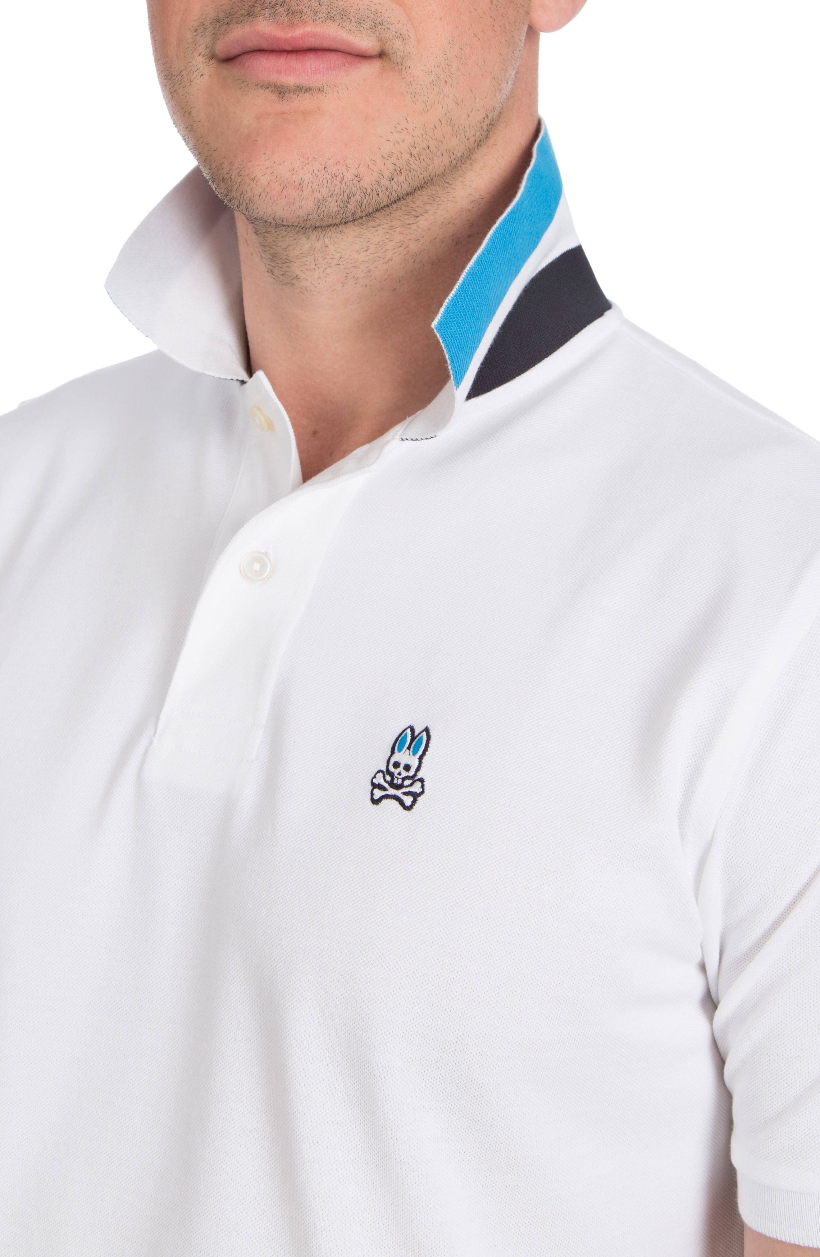 Neon Collar Polo,                             Alternate thumbnail 4, color,                             100