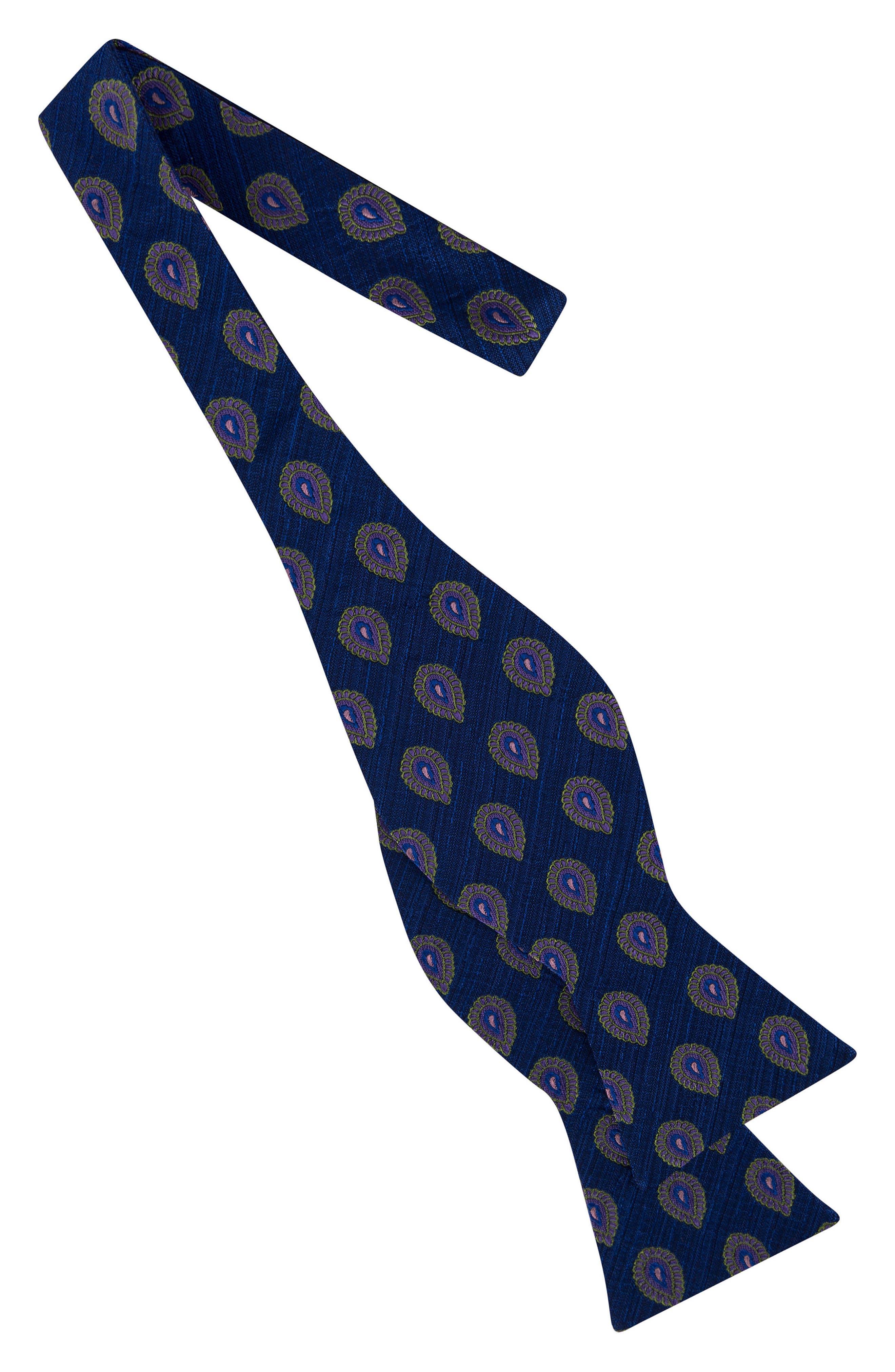 Elegant Medallion Silk Bow Tie,                             Alternate thumbnail 2, color,                             411