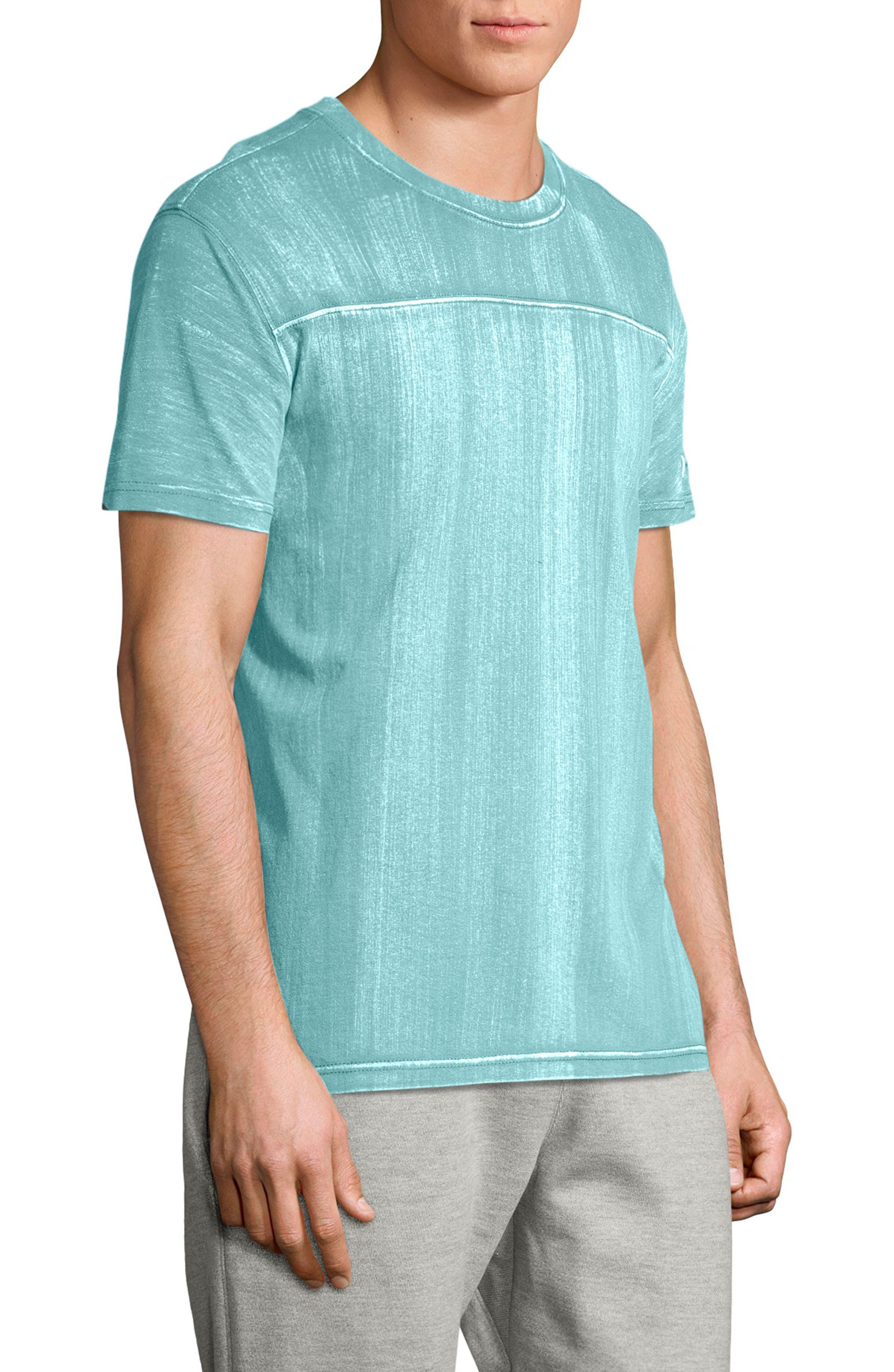 Bleached Wash Crewneck Cotton T-Shirt,                             Alternate thumbnail 9, color,