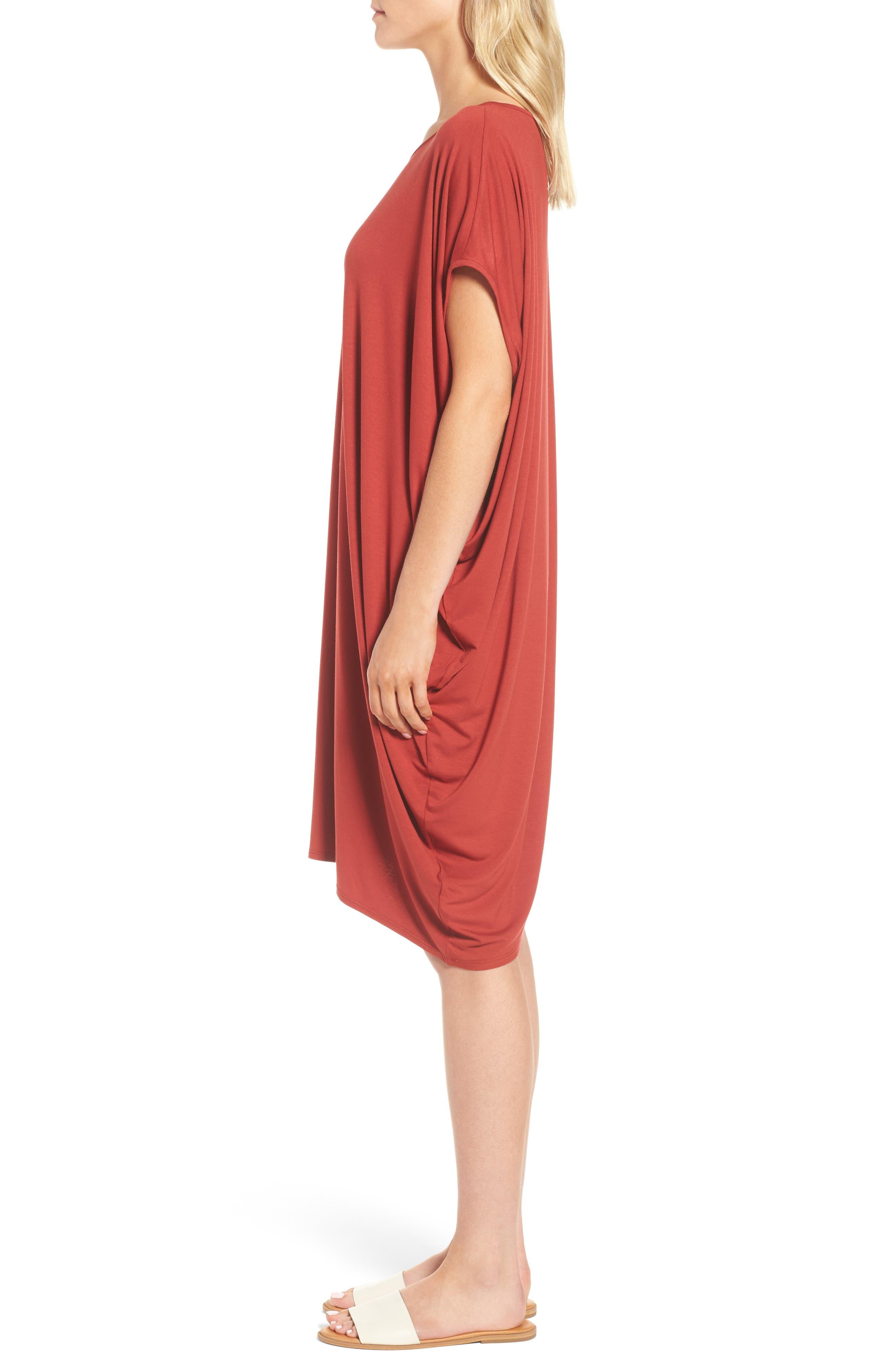 Asymmetrical Jersey Shift Dress,                             Alternate thumbnail 12, color,