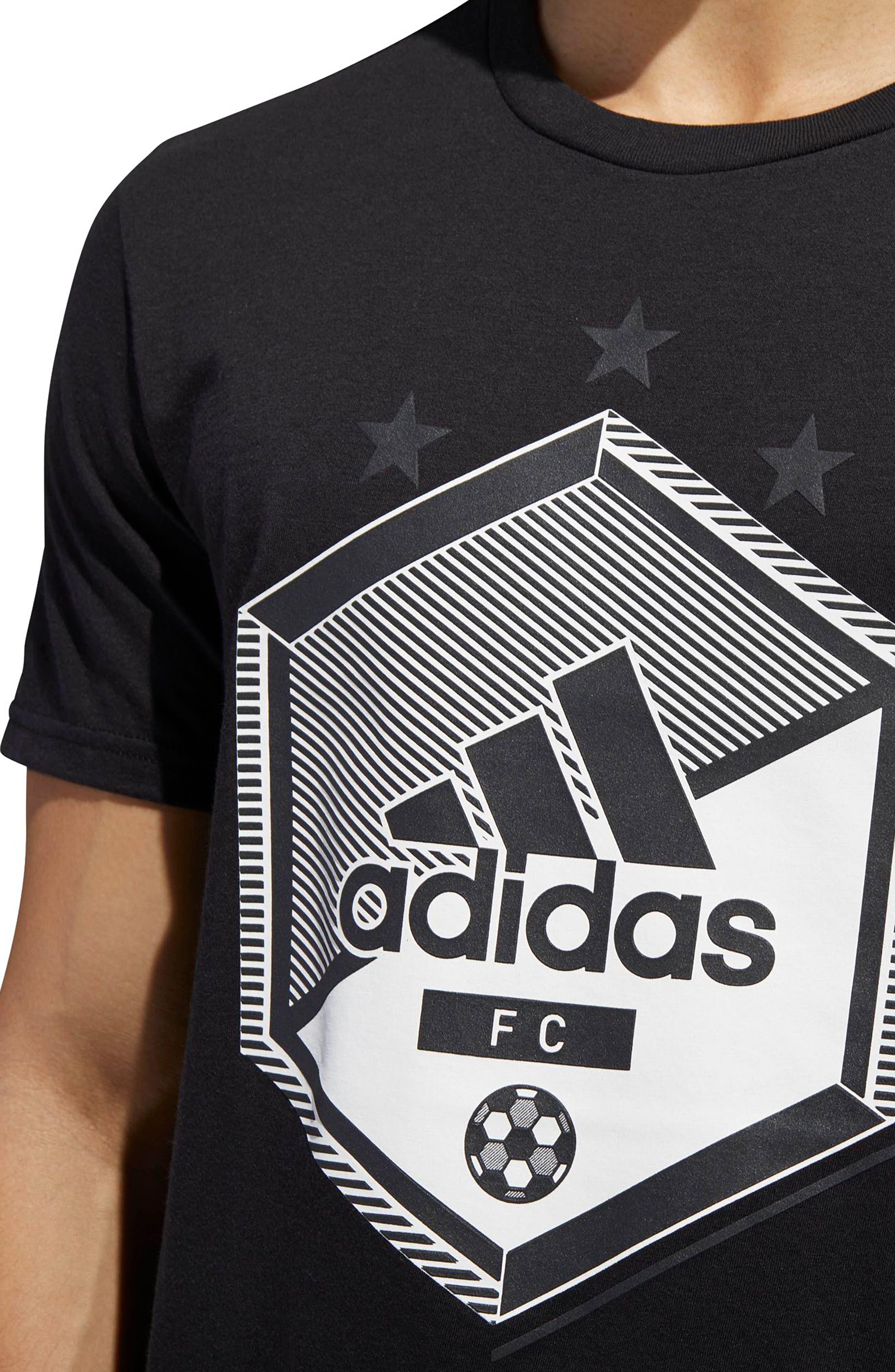 Slim Fit Soccer Graphic T-Shirt,                             Alternate thumbnail 5, color,                             001