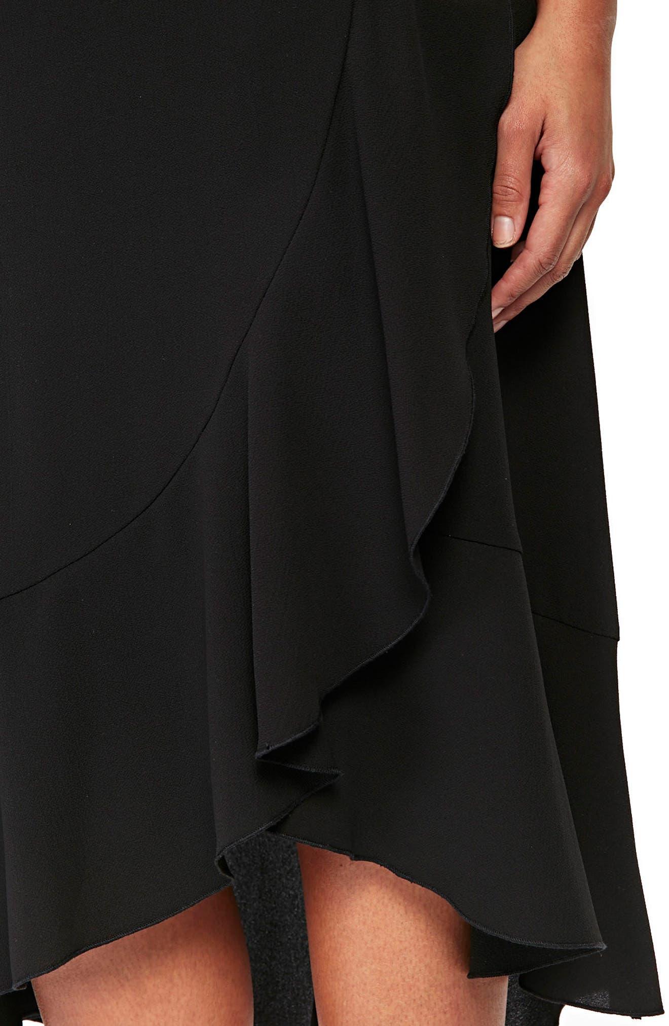 Ruffle Midi Skirt,                             Alternate thumbnail 2, color,                             001