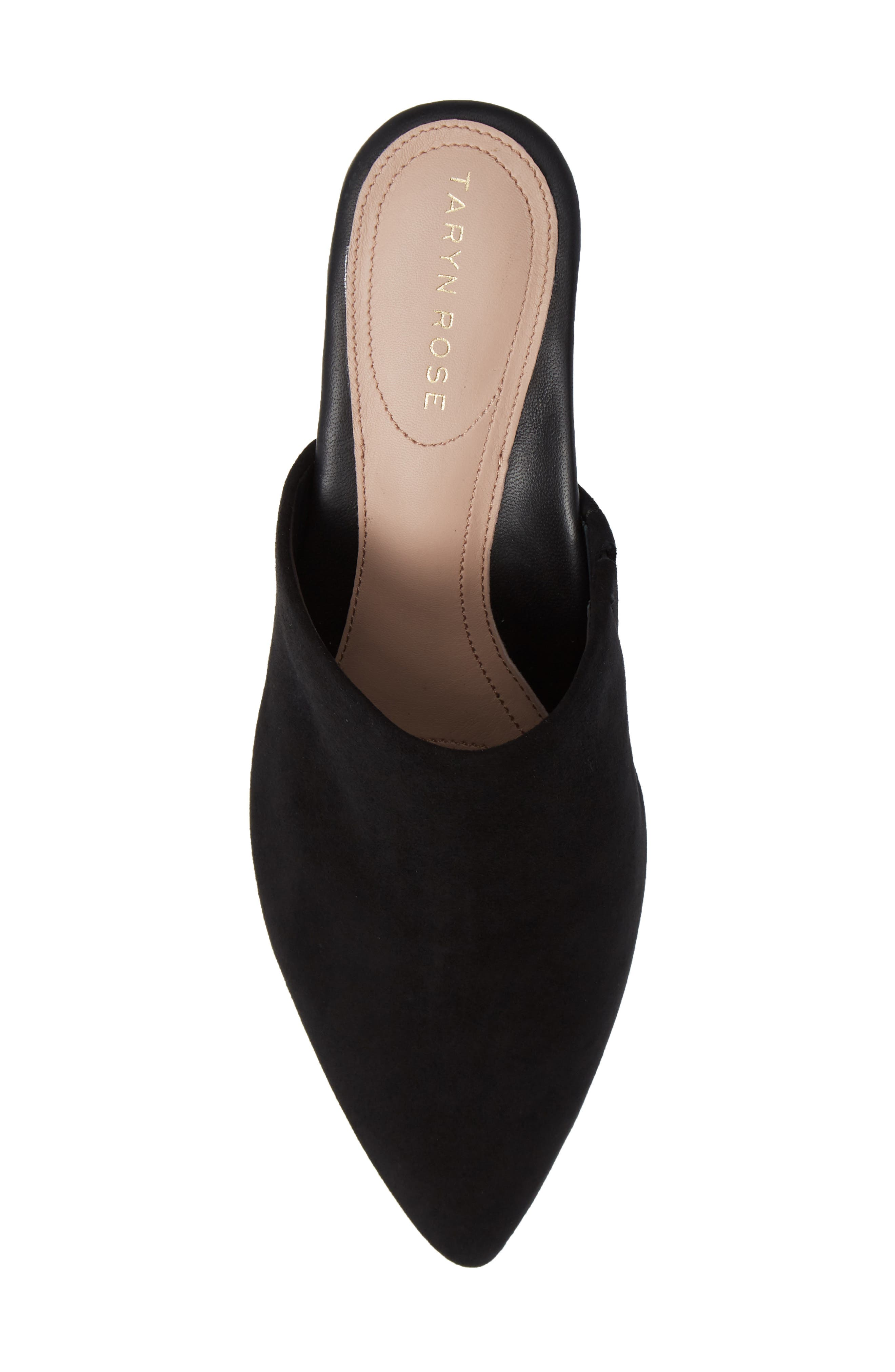 Madisson Pointy Toe Mule,                             Alternate thumbnail 5, color,                             BLACK SUEDE