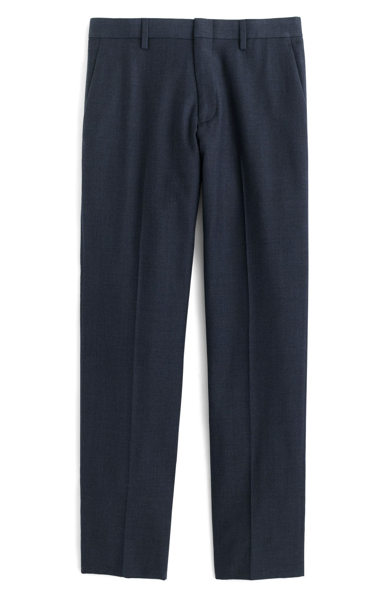 Ludlow Flat Front Solid Wool Trousers,                             Alternate thumbnail 14, color,