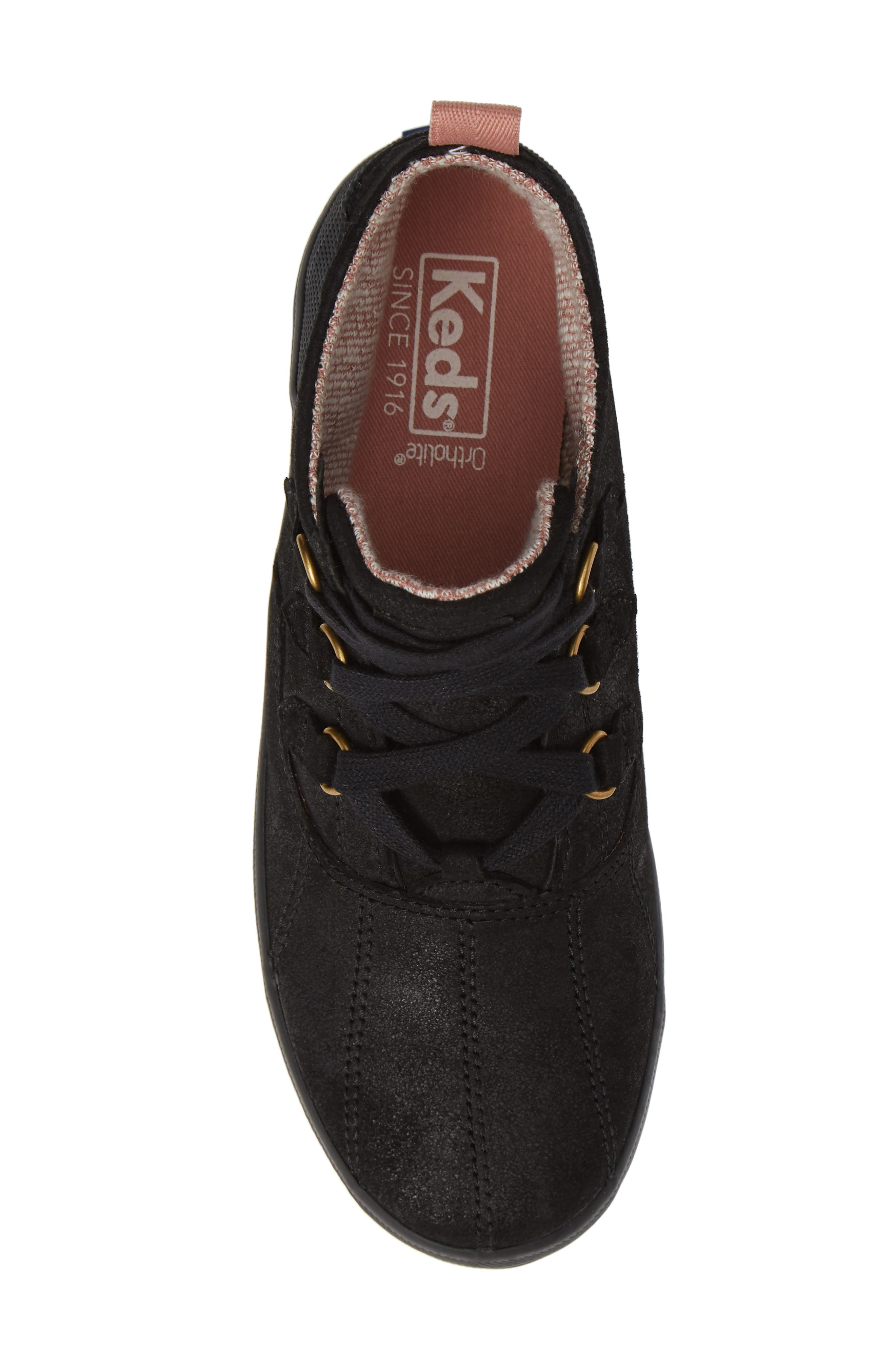 Scout Chukka Boot,                             Alternate thumbnail 5, color,                             BLACK SUEDE