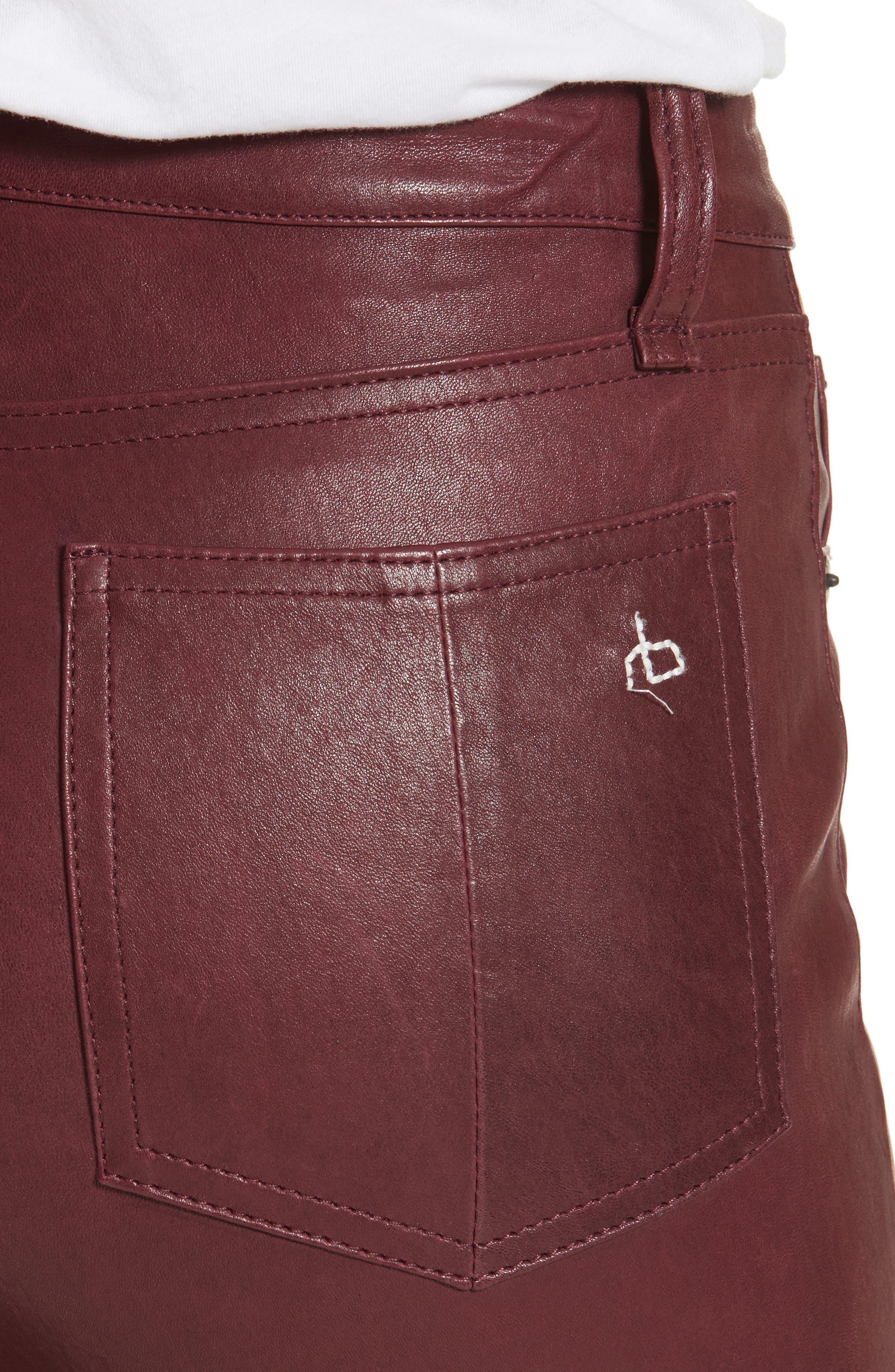 Lambskin Leather Pants,                             Alternate thumbnail 16, color,