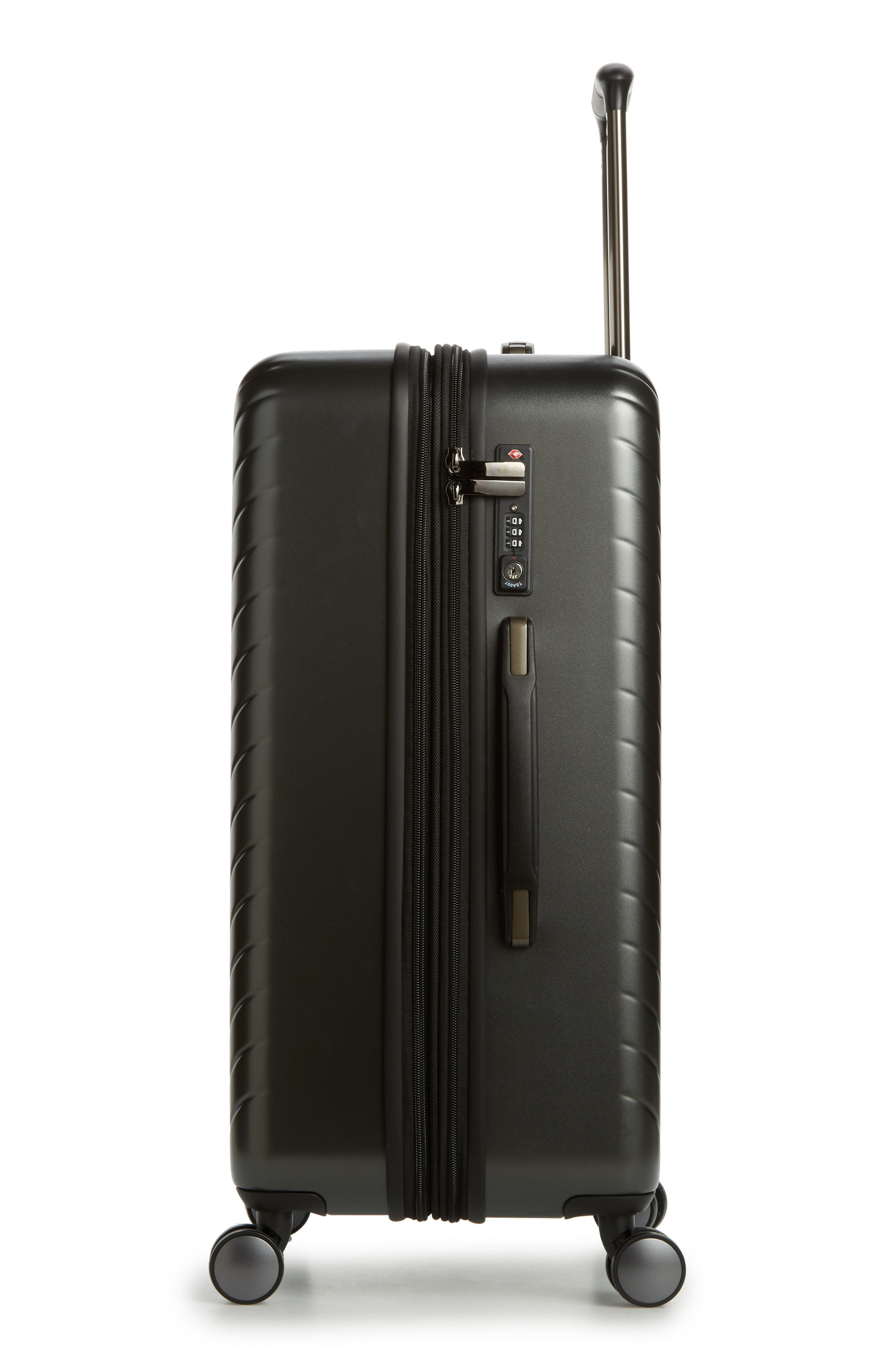NORDSTROM,                             Chevron 25-Inch Spinner Suitcase,                             Alternate thumbnail 3, color,                             040