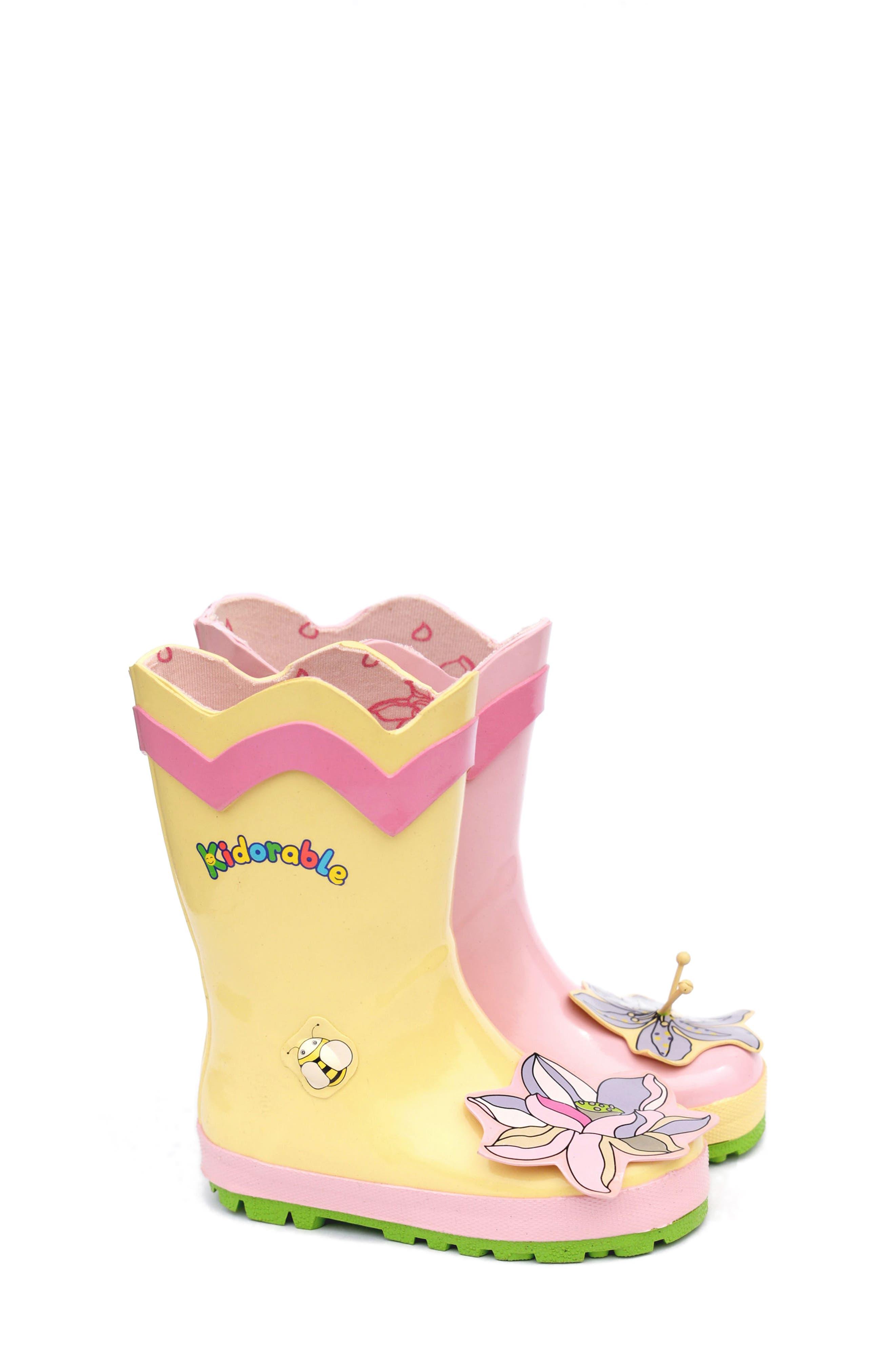 'Lotus' Waterproof Rain Boot,                             Alternate thumbnail 2, color,                             650