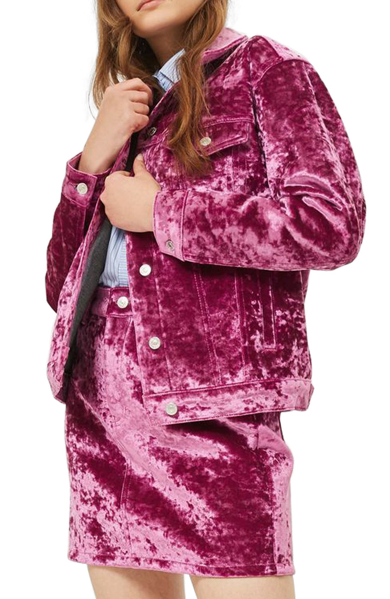 Bonded Velvet Jacket,                             Main thumbnail 1, color,