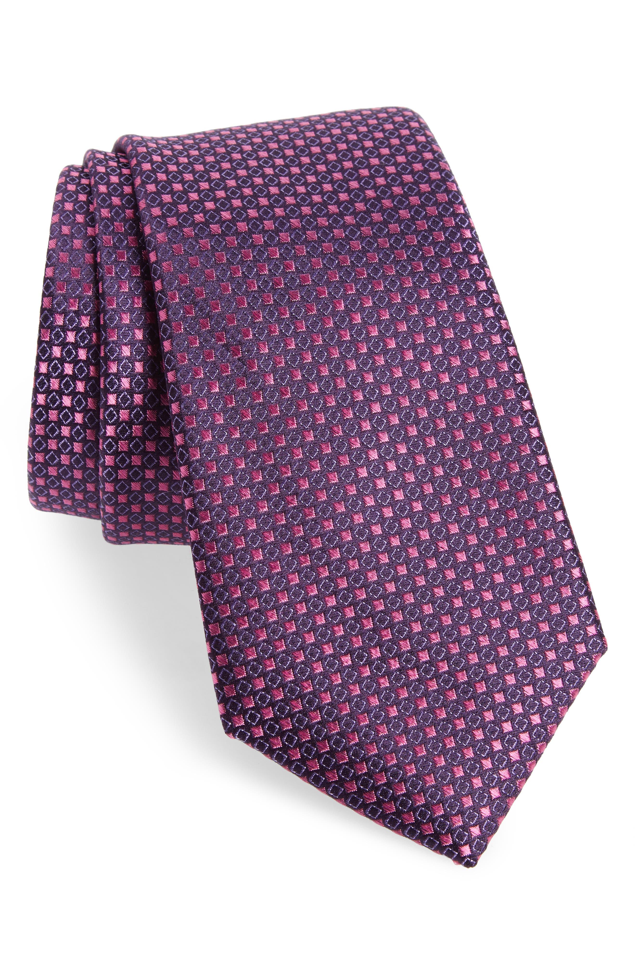 Chad Microdot Silk Tie,                             Main thumbnail 6, color,