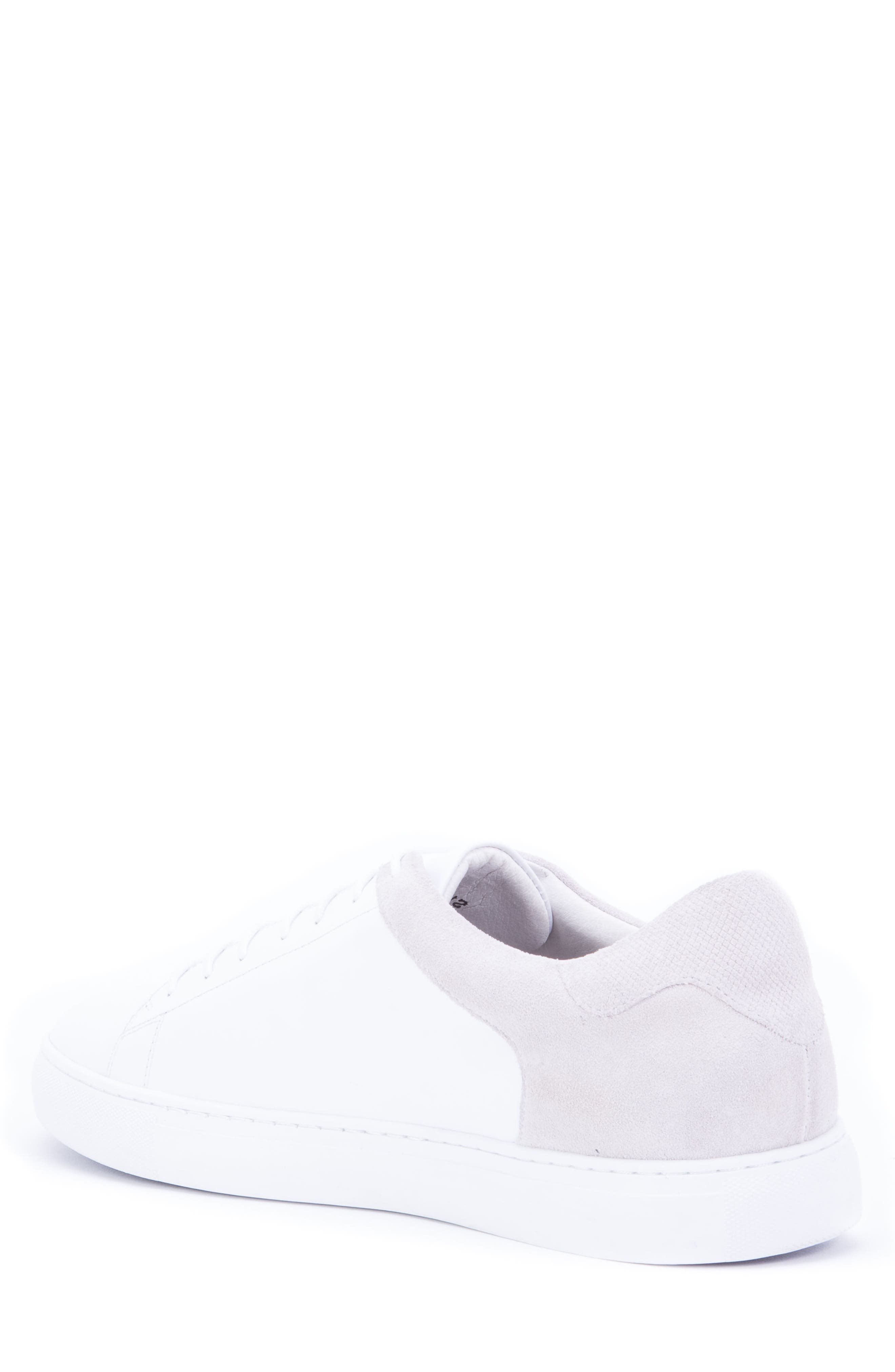 Cue Low Top Sneaker,                             Alternate thumbnail 2, color,                             WHITE LEATHER/ SUEDE